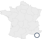 French Map with Shootplanet headquarter position