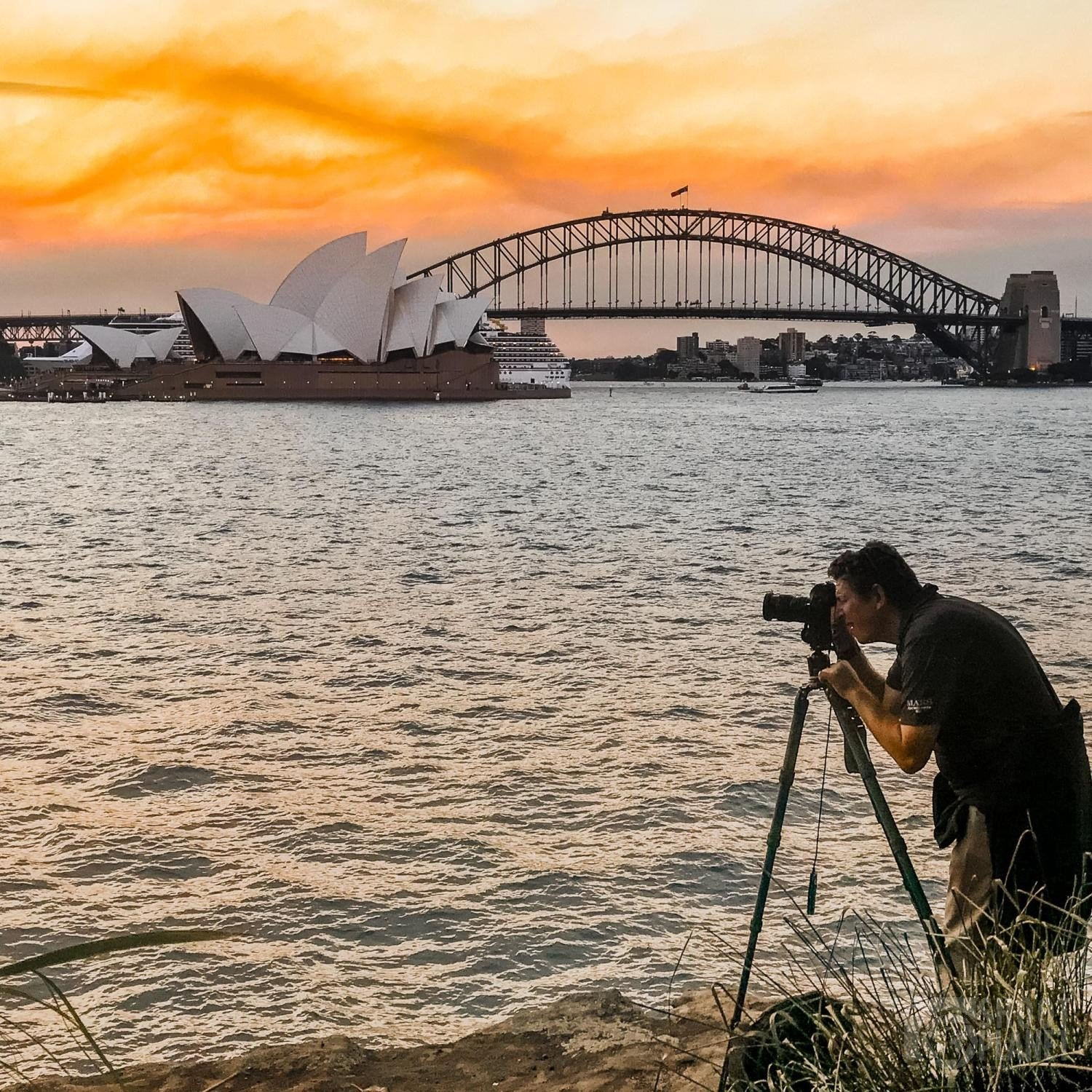 Marc Turcan photographing Sydney Harbor in Australia