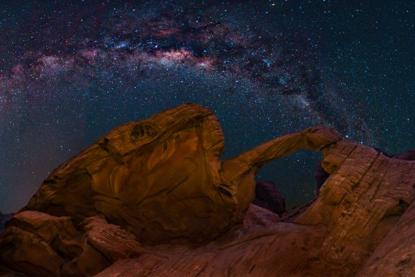 Milky Way over Valley of Fire, Nevada