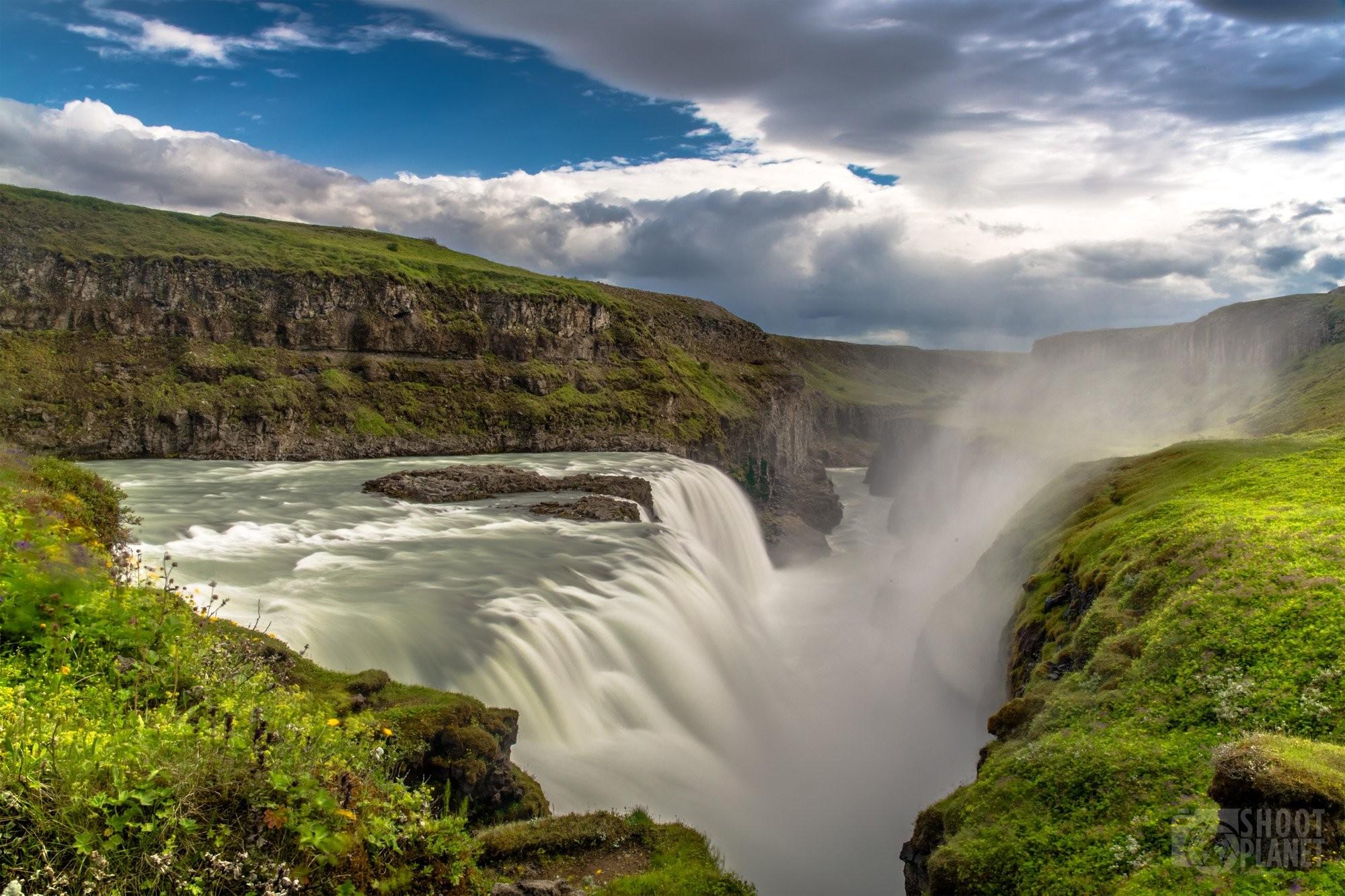 Gullfoss waterfall and canyon Iceland