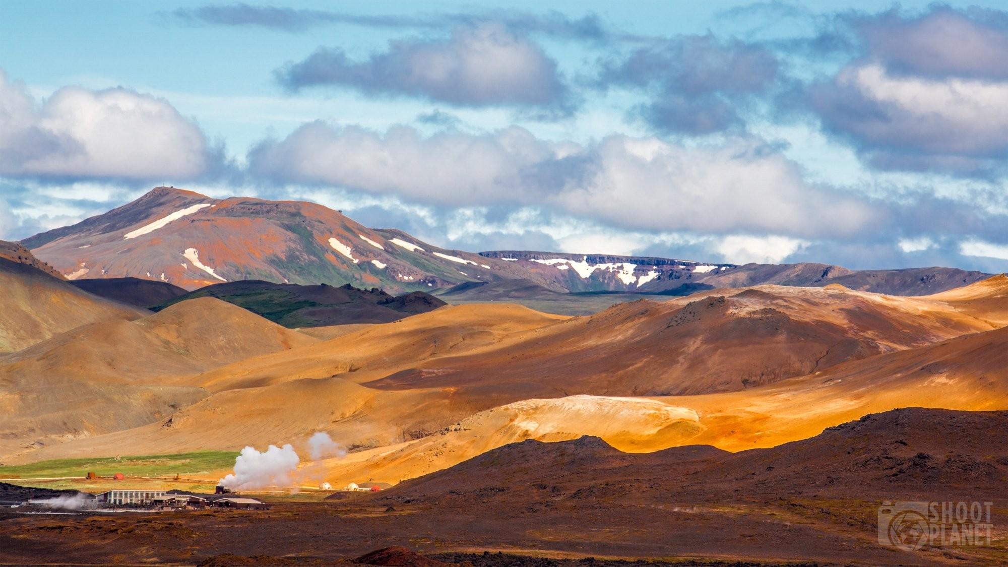 Geothermal station in Myvatn region, Iceland