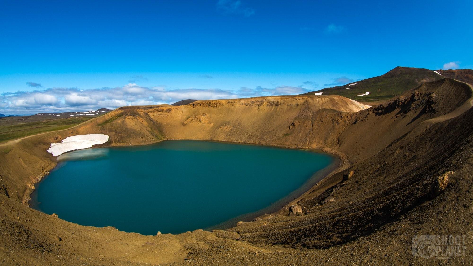Krafla Volcano crater turquoise pool, Northeast Iceland