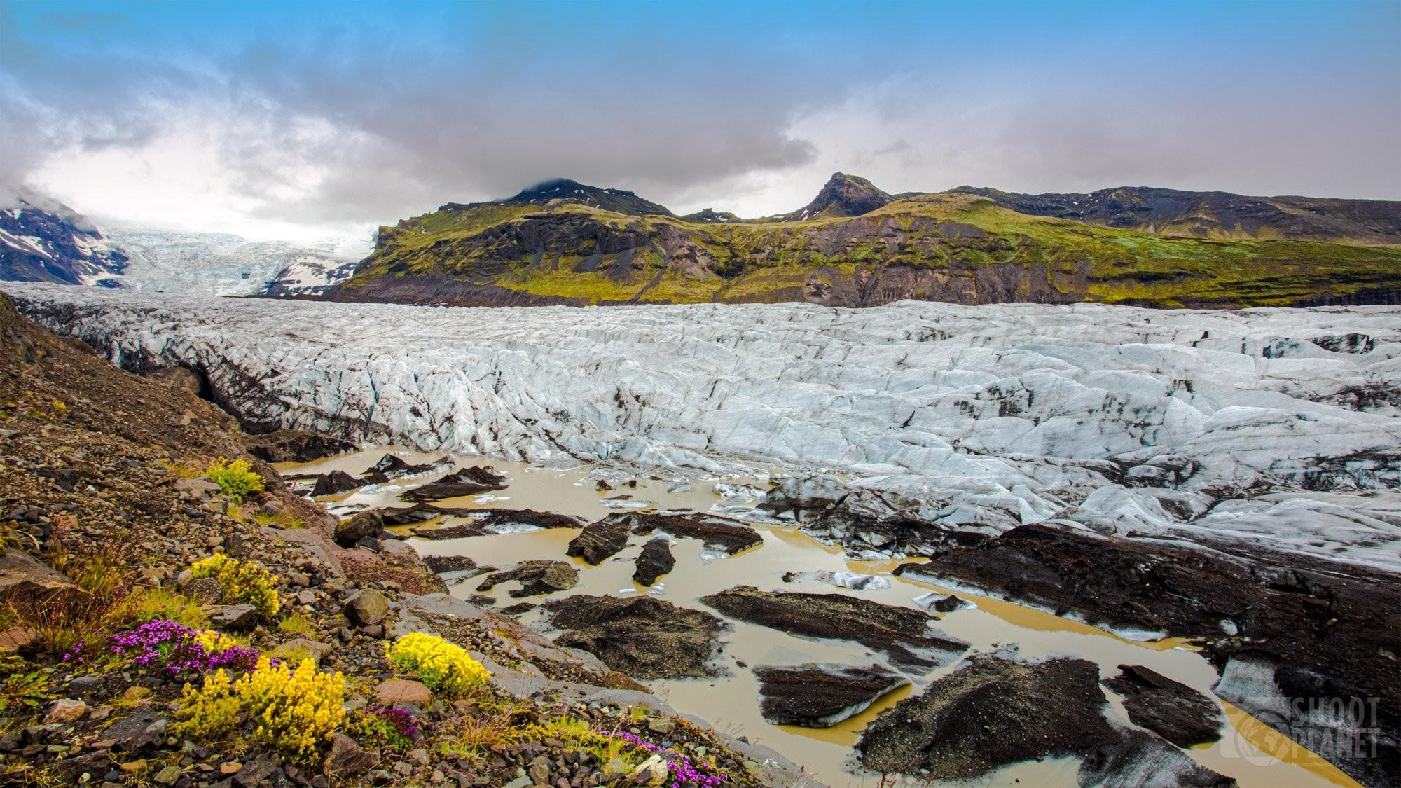 Svinafellsjokull glacier, Vatnajokull National Park Iceland