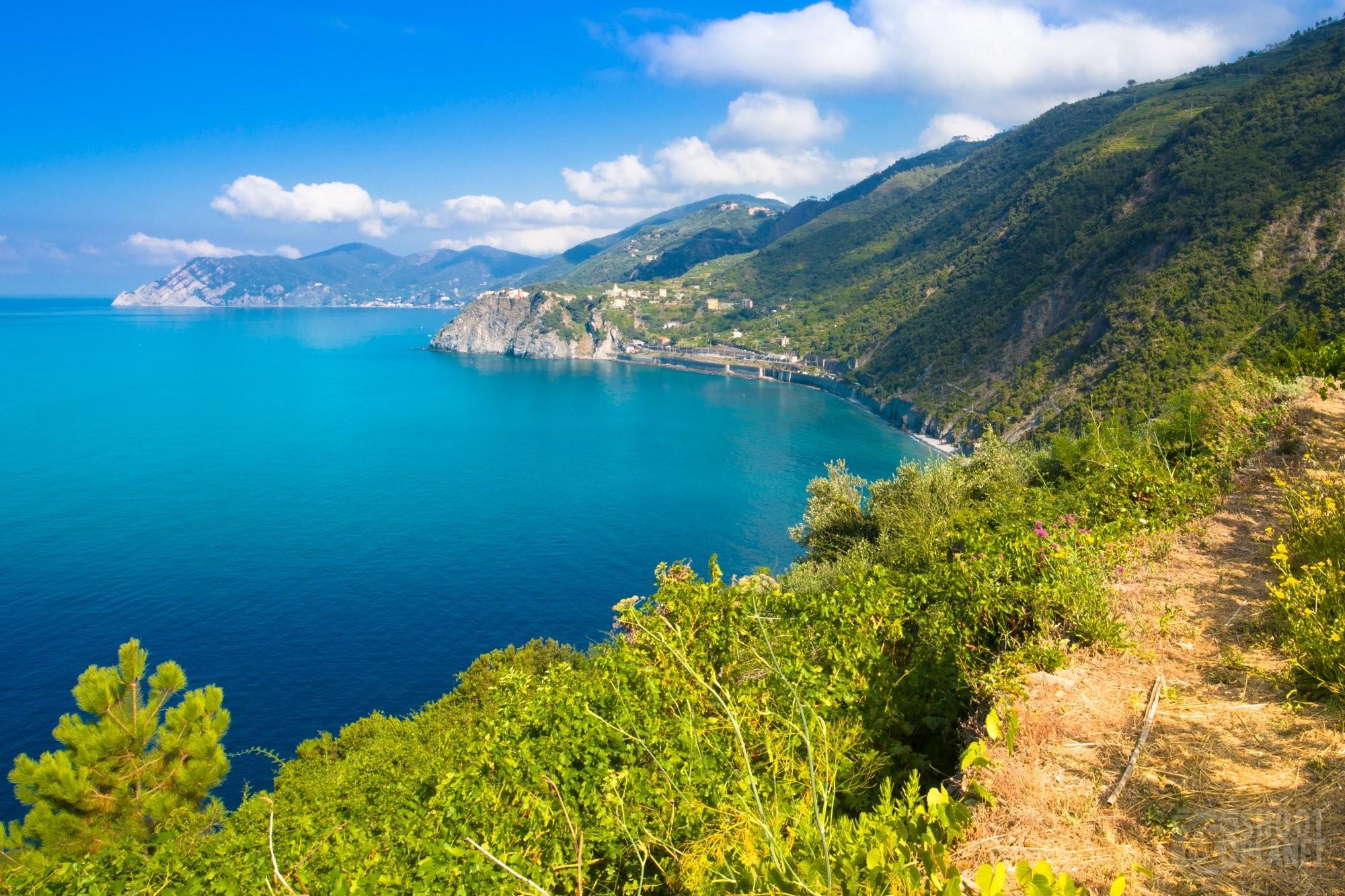 Trails of Cinque Terre in Italy
