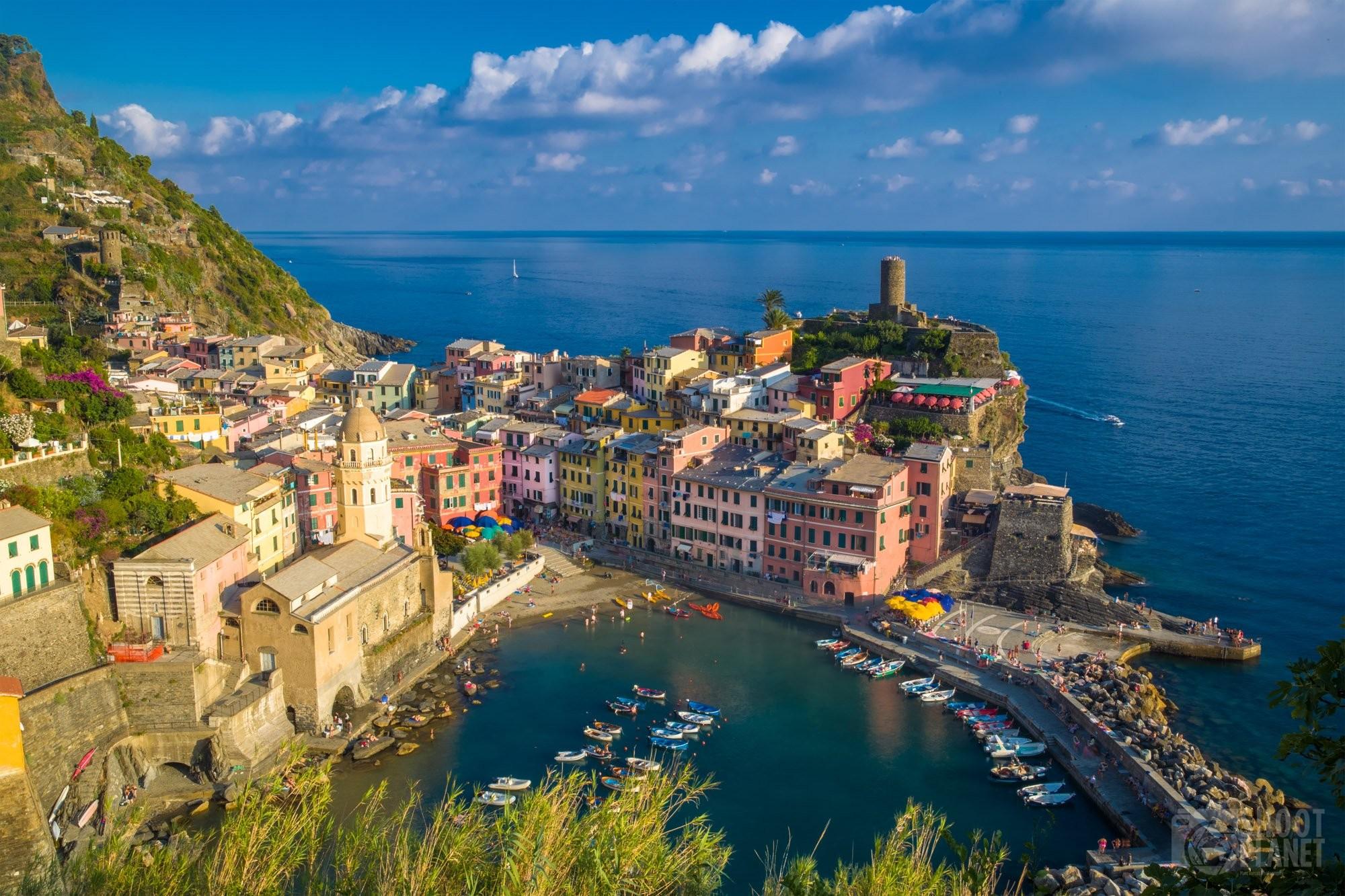 Colorful Vernazza village in Cinque Terre Italy