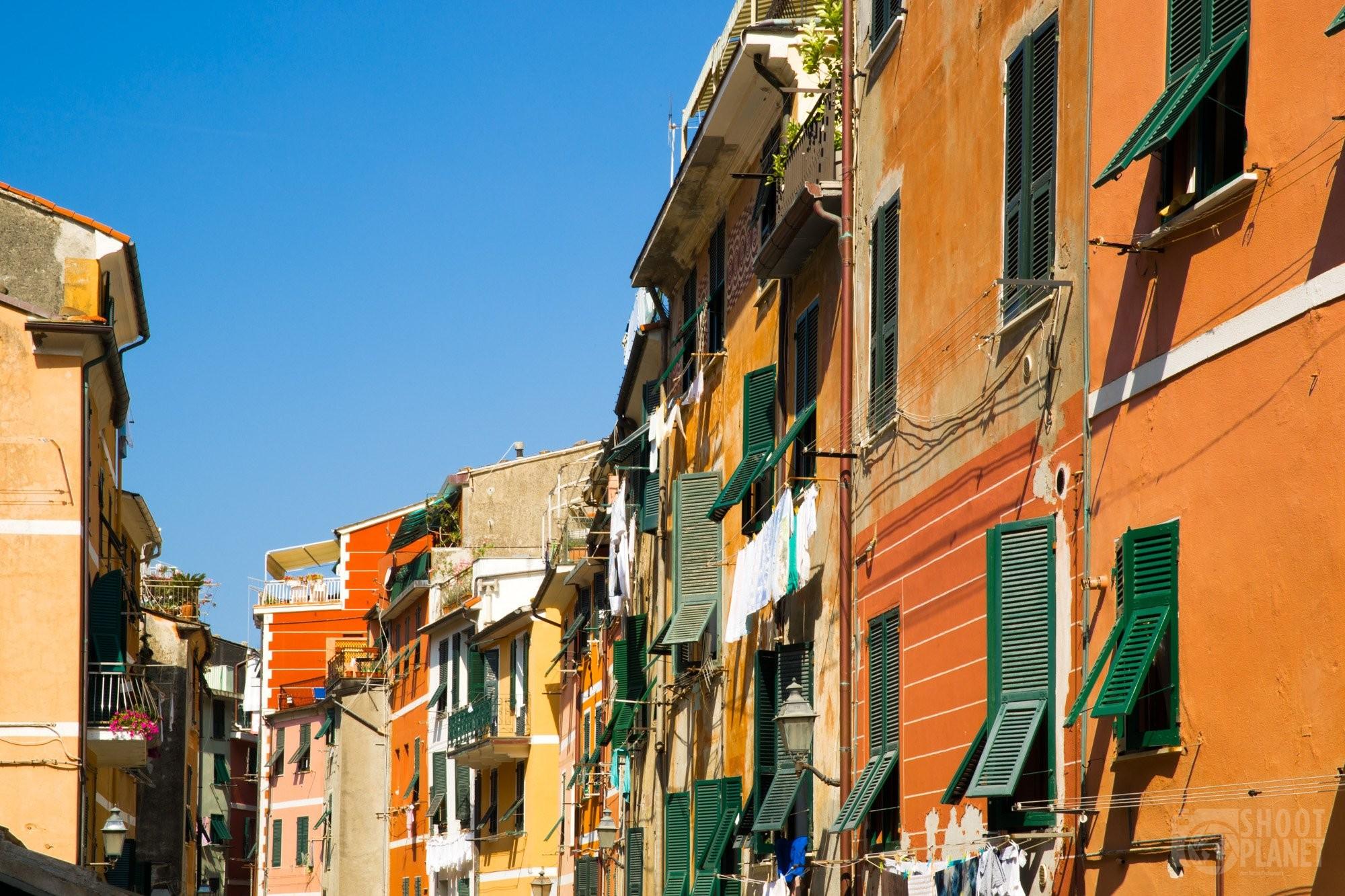 Vernazza village streets in Cinque Terre Italy