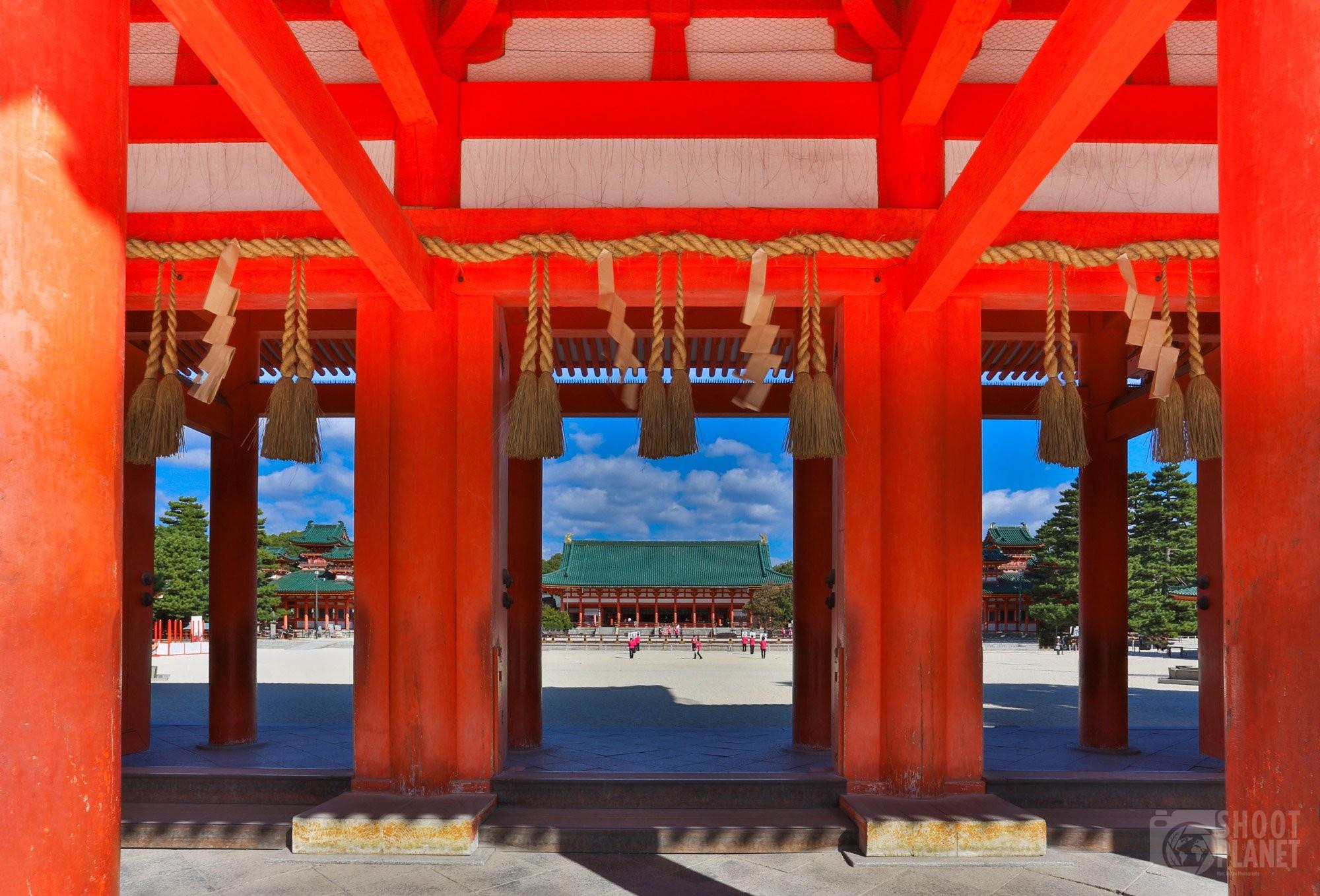 Heian Shrine gate in Kyoto, Japan