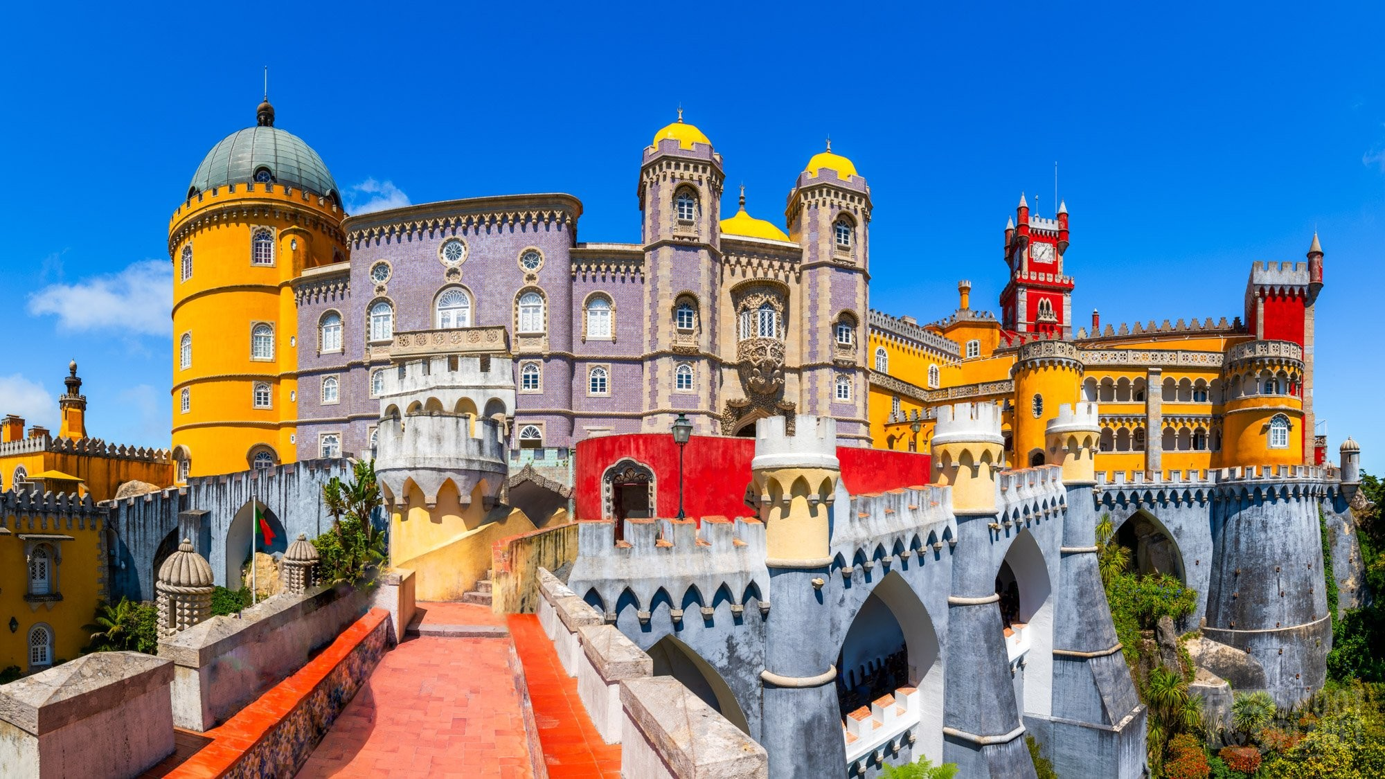 Pena Palace panorama in Sintra, Portugal