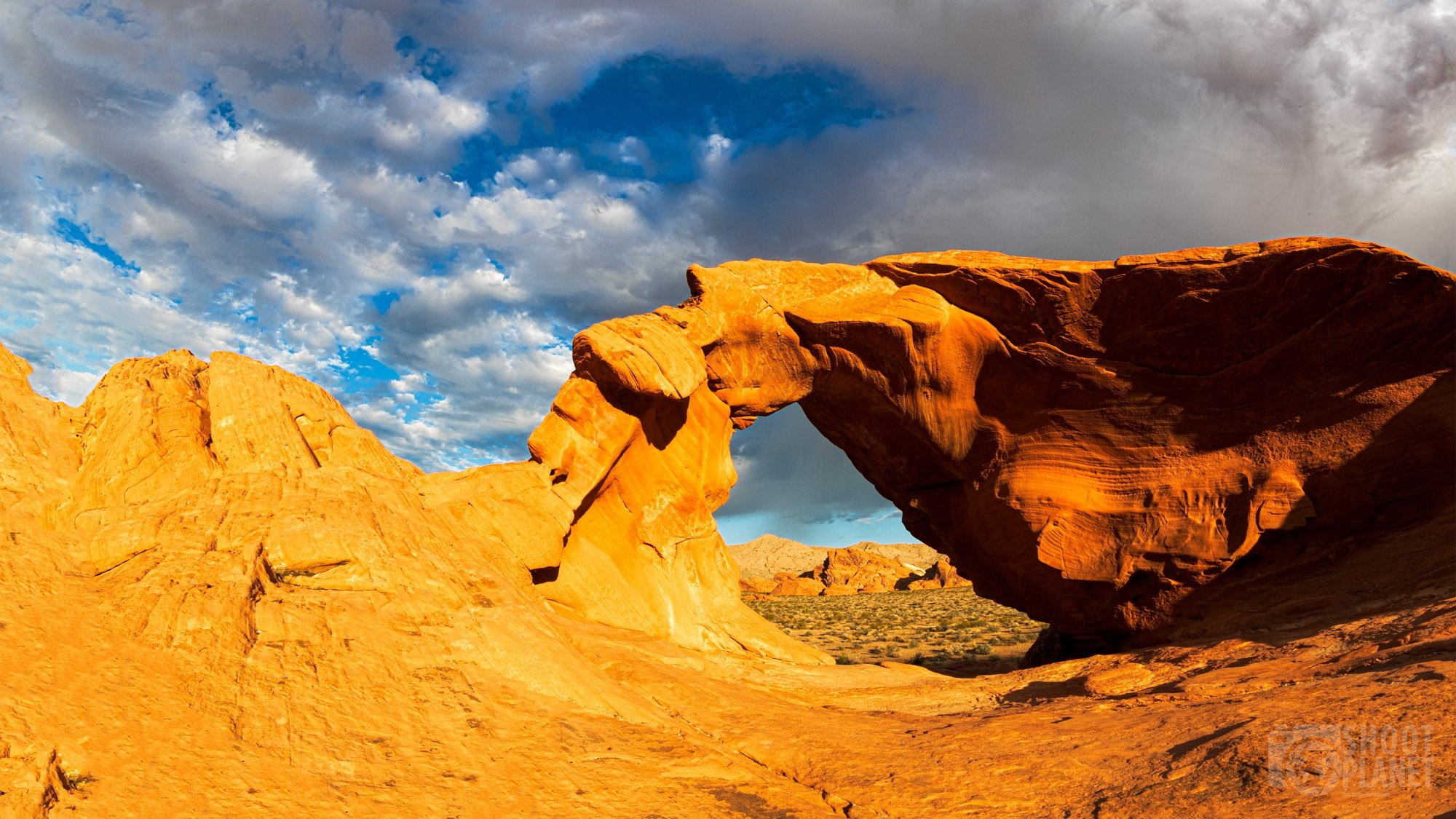 Arch Rock Valley of Fire Nevada USA