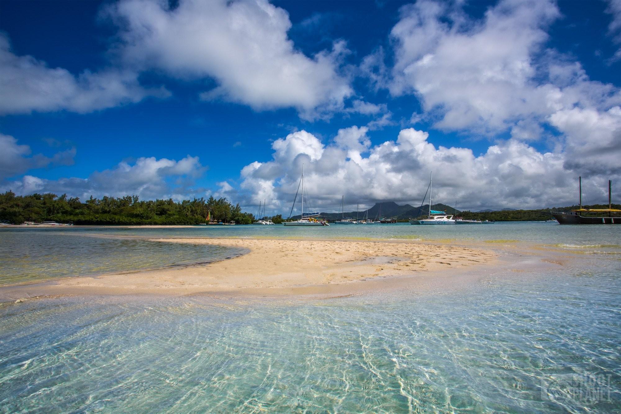 Ile aux Cerfs Lagoon in Mauritius Island