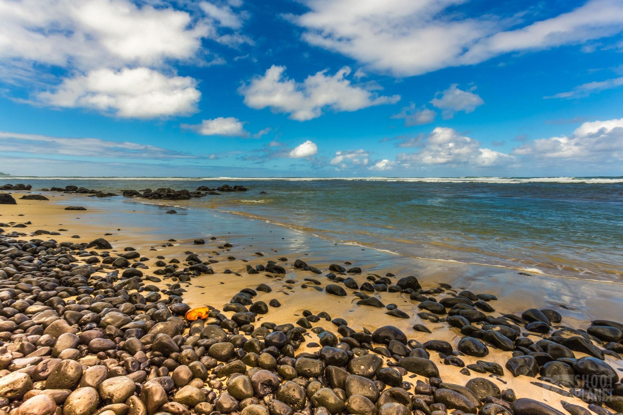 Rivière des Galets pebble beach, Mauritius