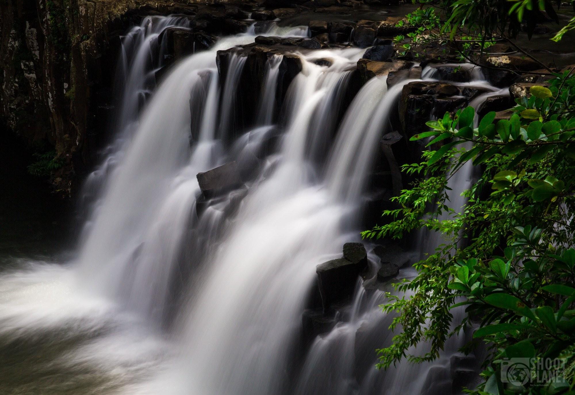 Rochester Falls in Mauritius Island jungle