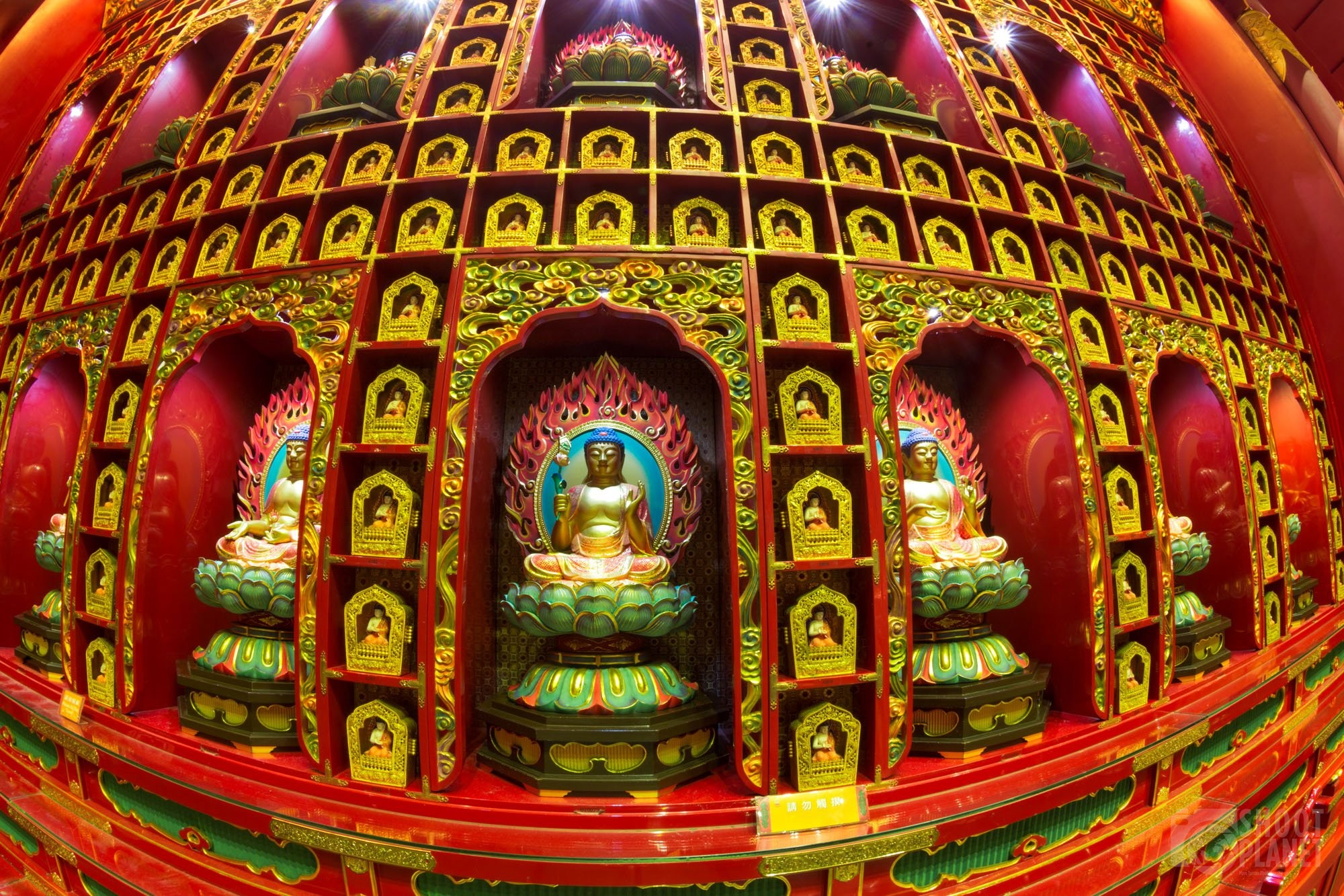 Buddha Tooth Relic Temple statues, Singapore