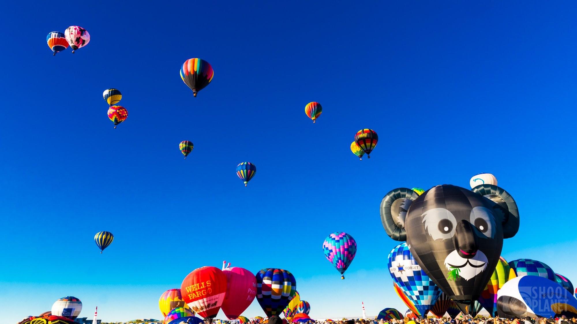 Balloon Fiesta Festival mass ascension, Albuquerque, USA