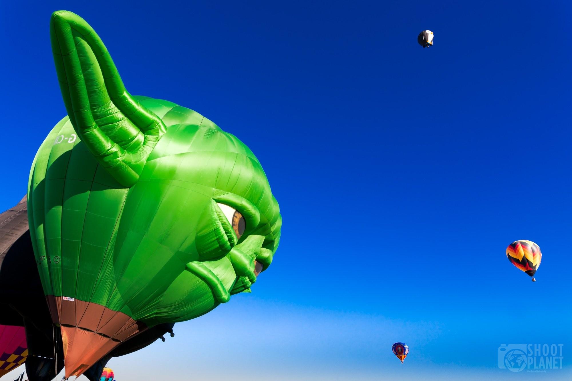 Jedi Yoda huge balloon, Albuquerque USA