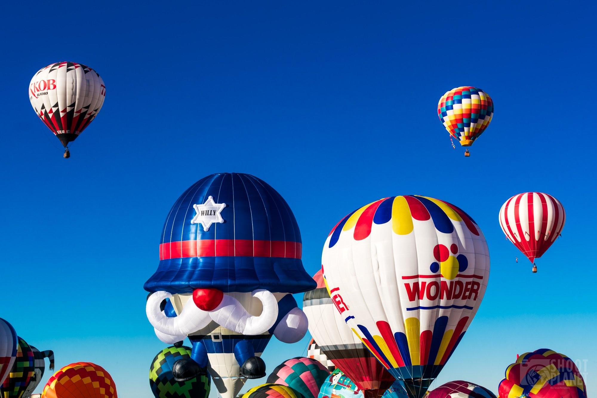 Balloons mass ascension in Albuquerque USA