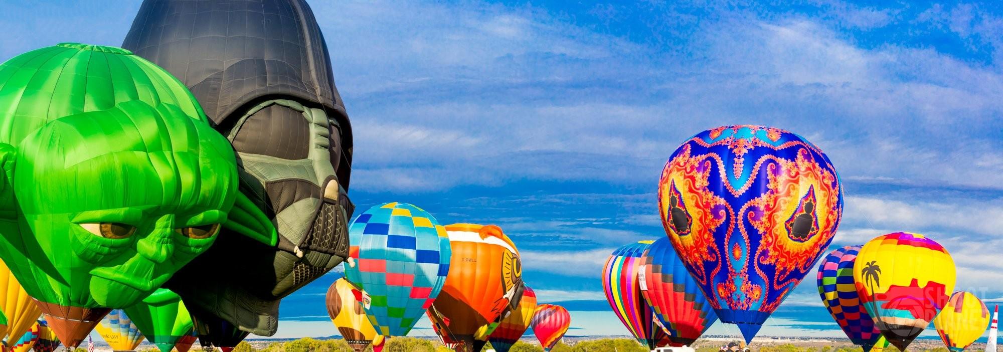 Yoda and Darth Vader balloons, Albuquerque USA