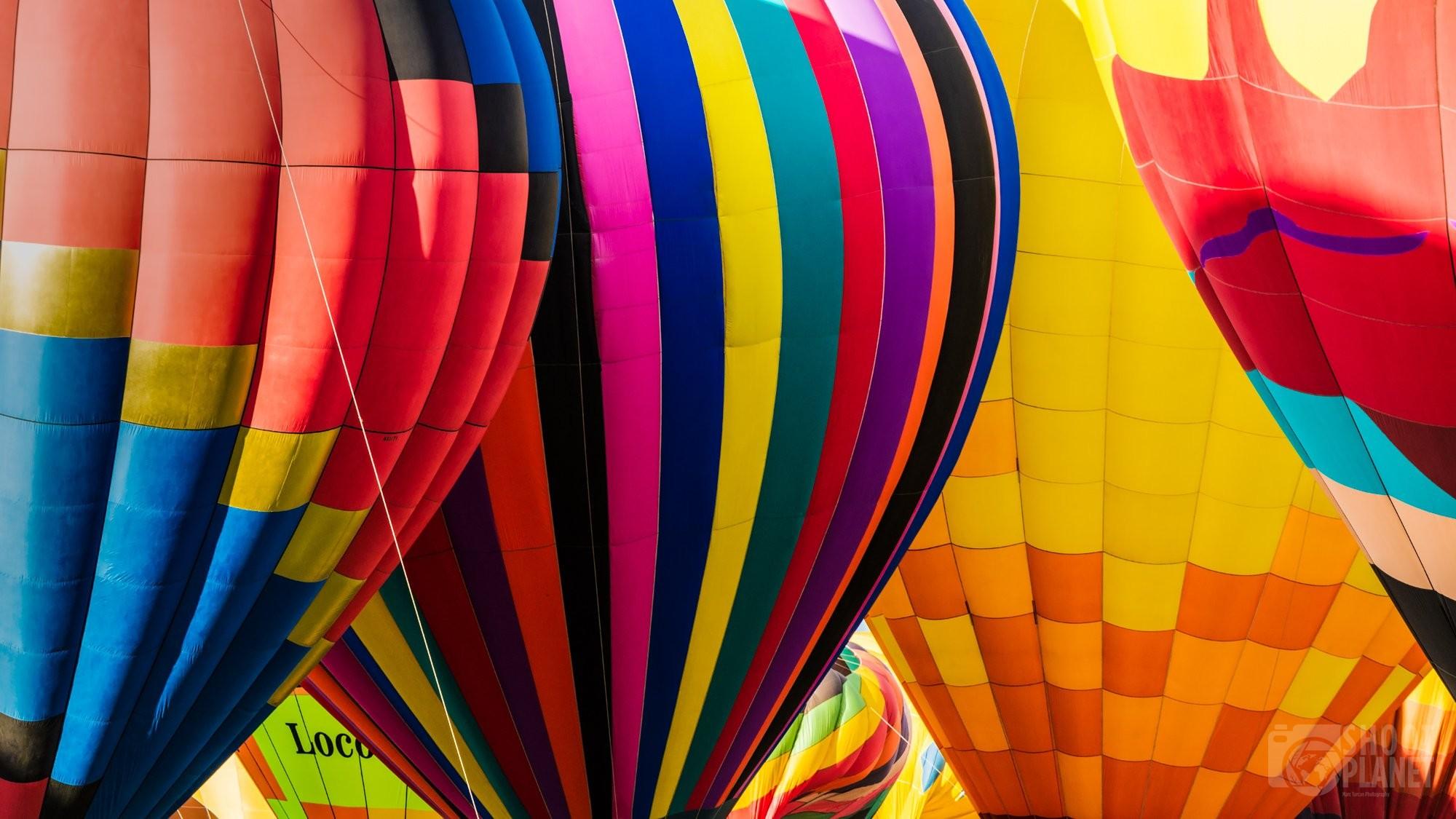 Air balloons close-up in Albuquerque, USA