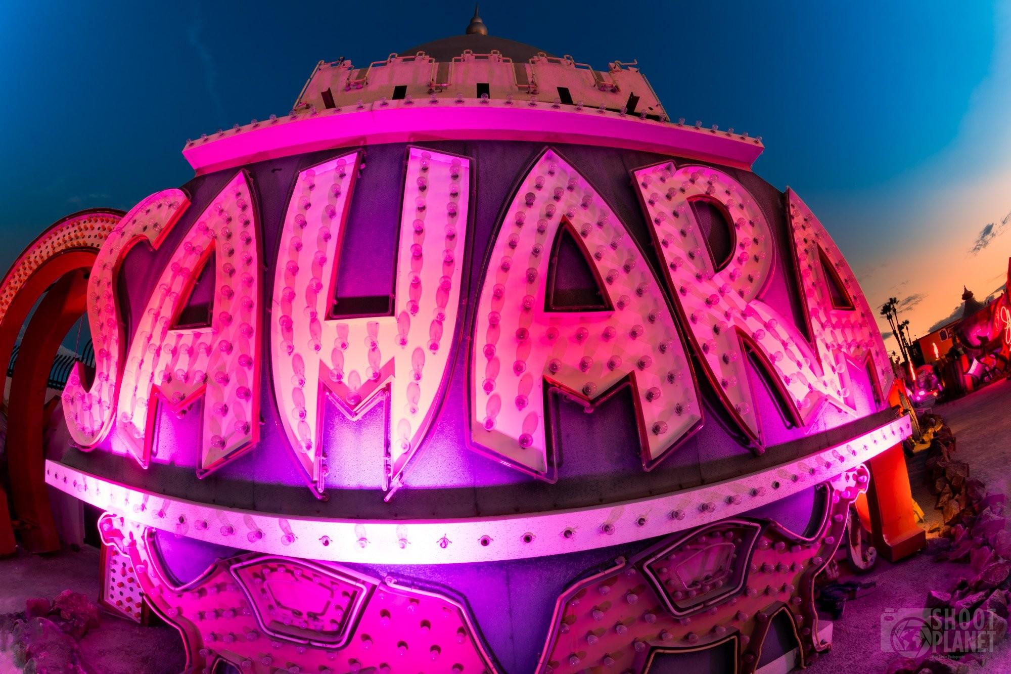 Vintage Sahara casino neon sign, Las Vegas