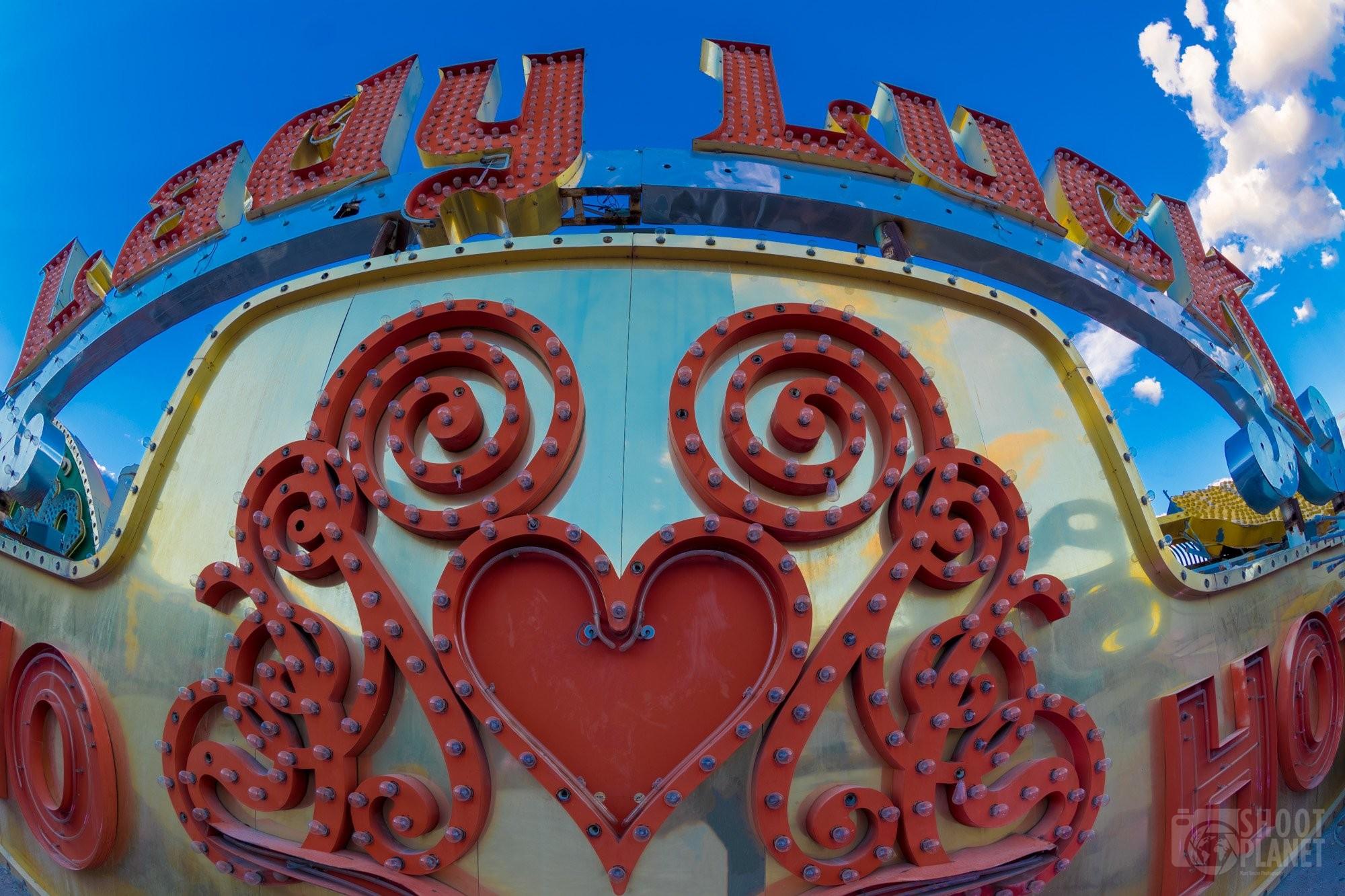 Lady Luck neon sign Las Vegas, USA