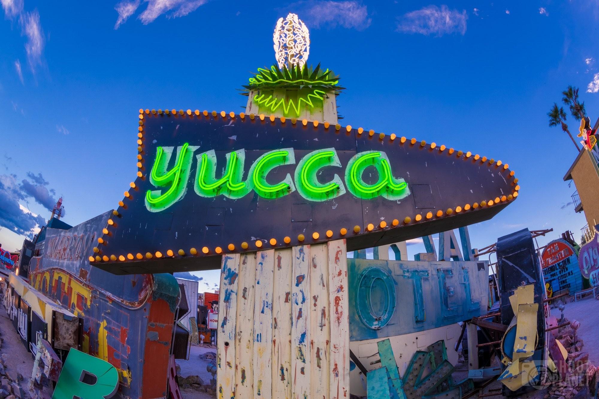 Vintage Yucca neon sign, Las Vegas USA