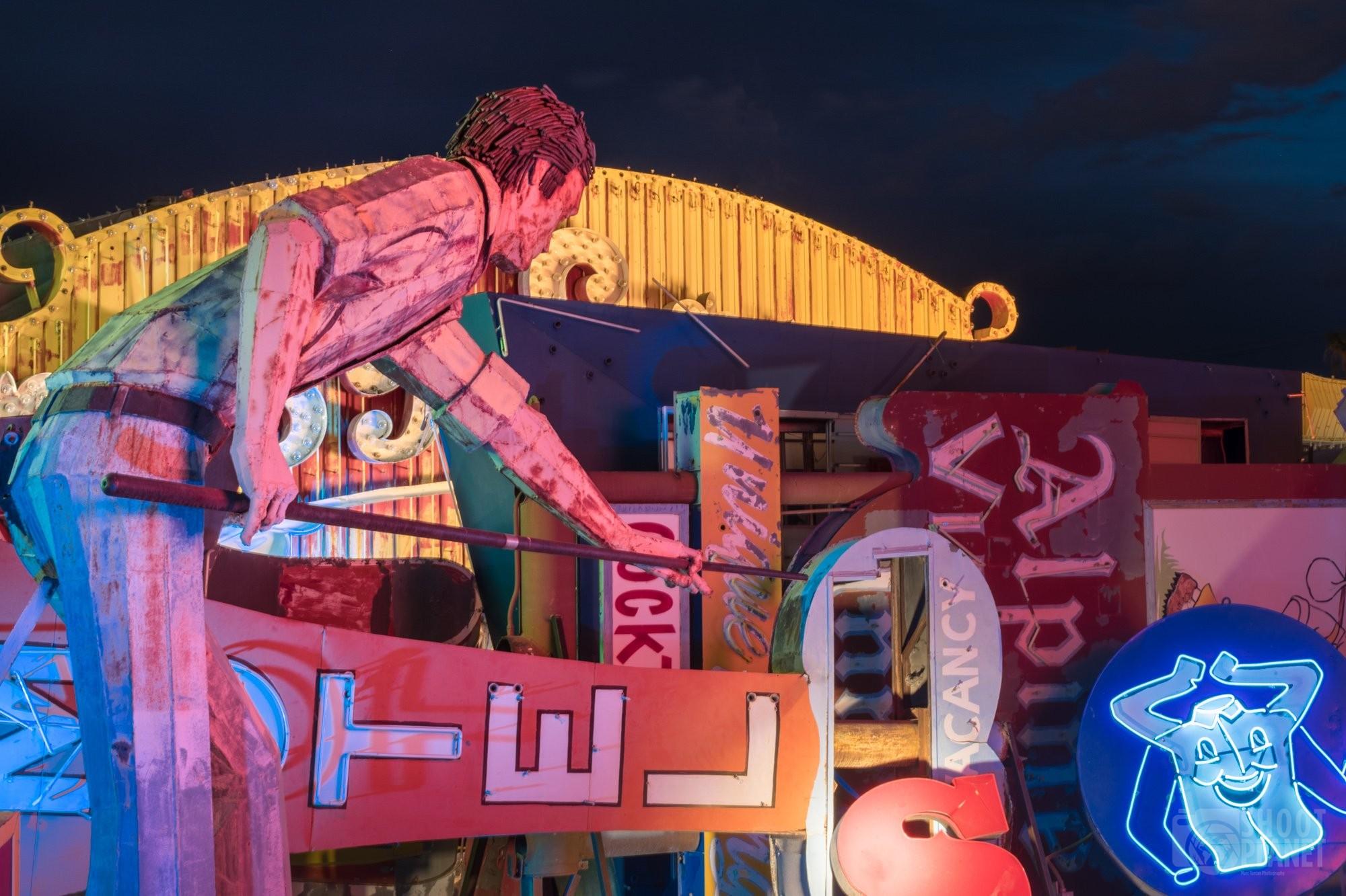Neon Museum boneyard of Las Vegas, USA