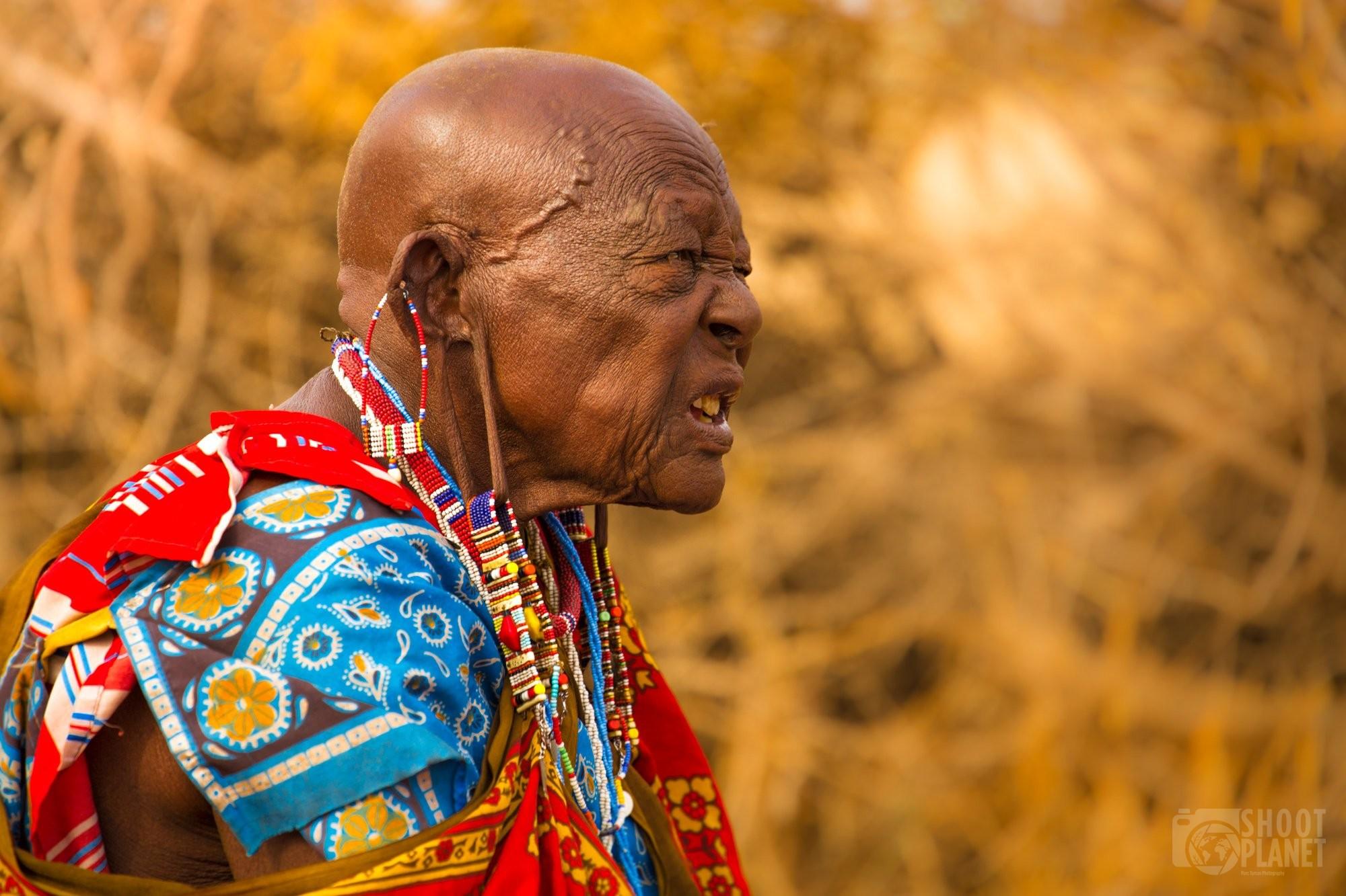 Maasai old man, Tanzania