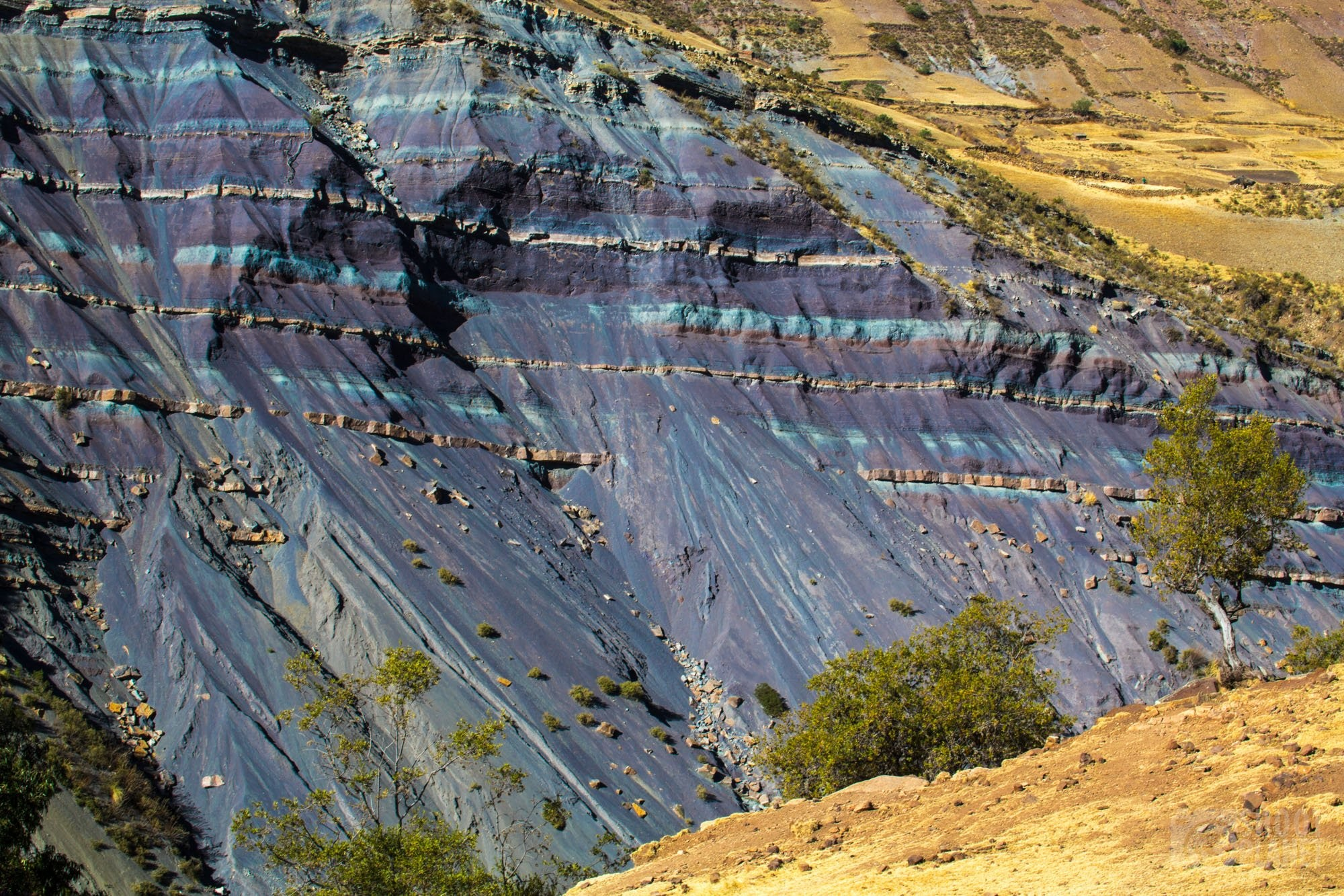 Maragua crater purple geological formations, Bolivia