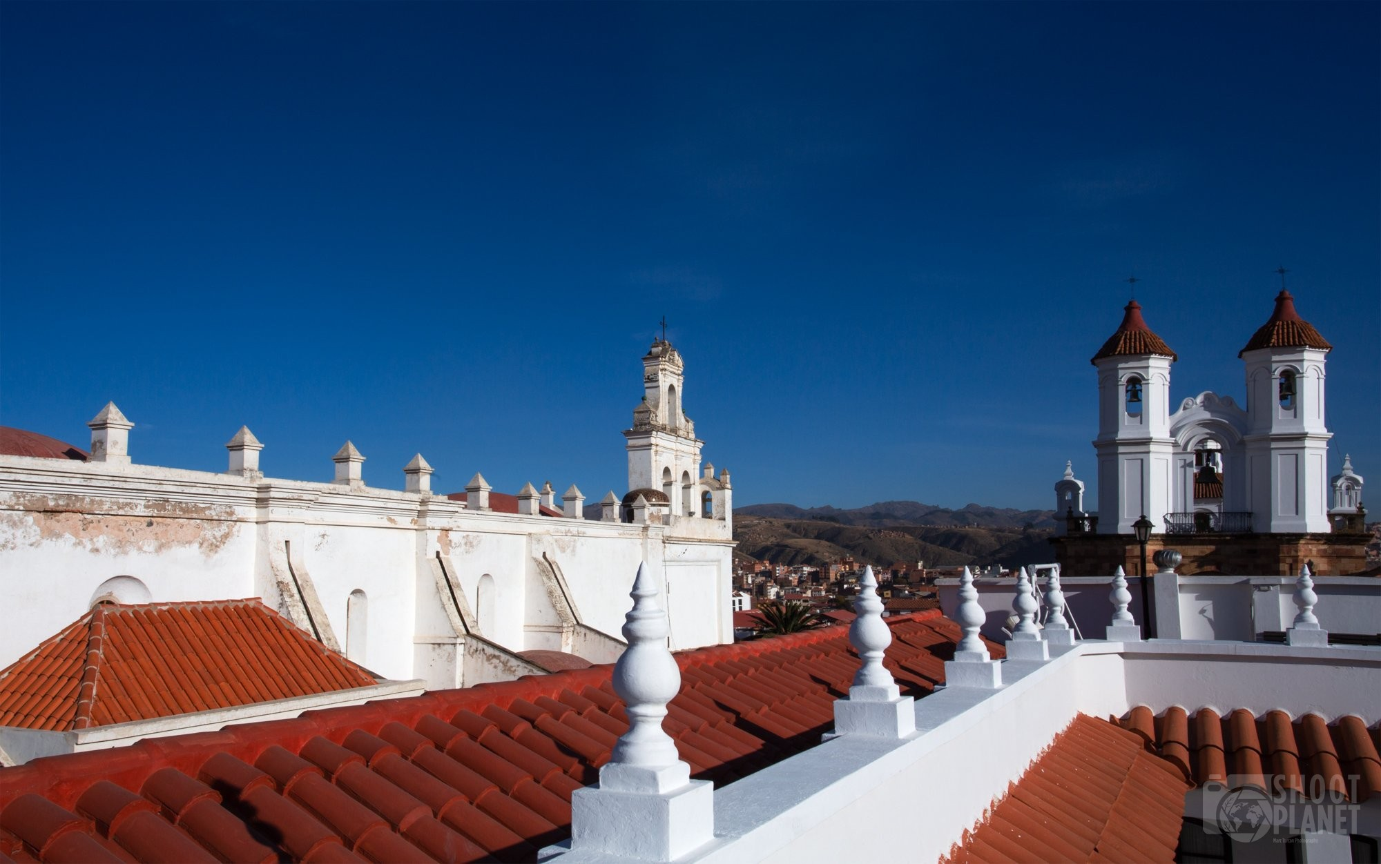 Monastery and church skyline in Sucre, Bolivia