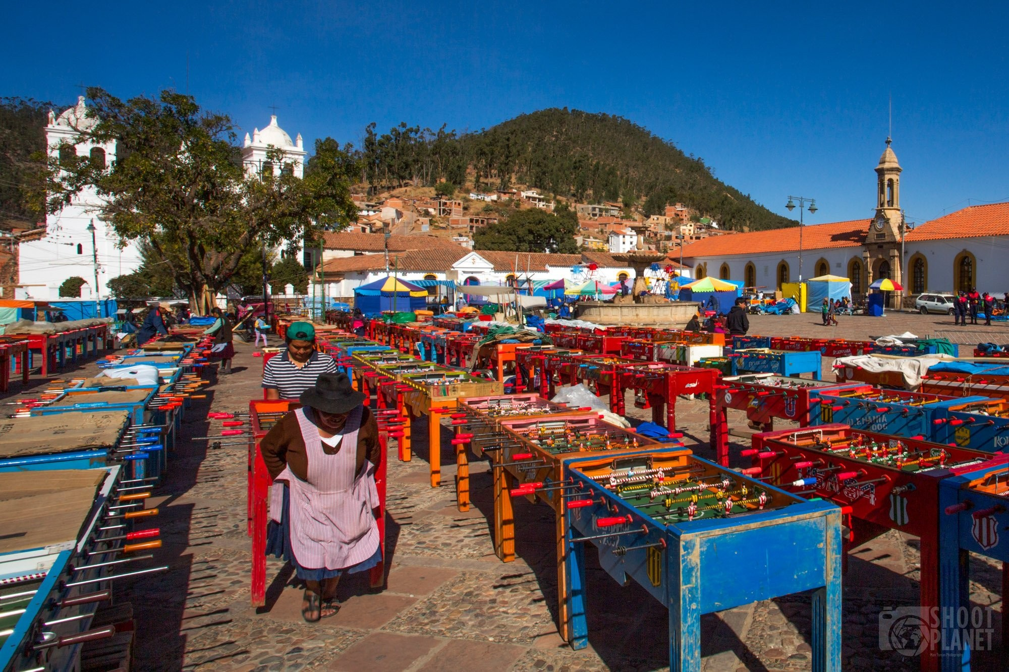 Baby-foot tournament in Sucre, Bolivia