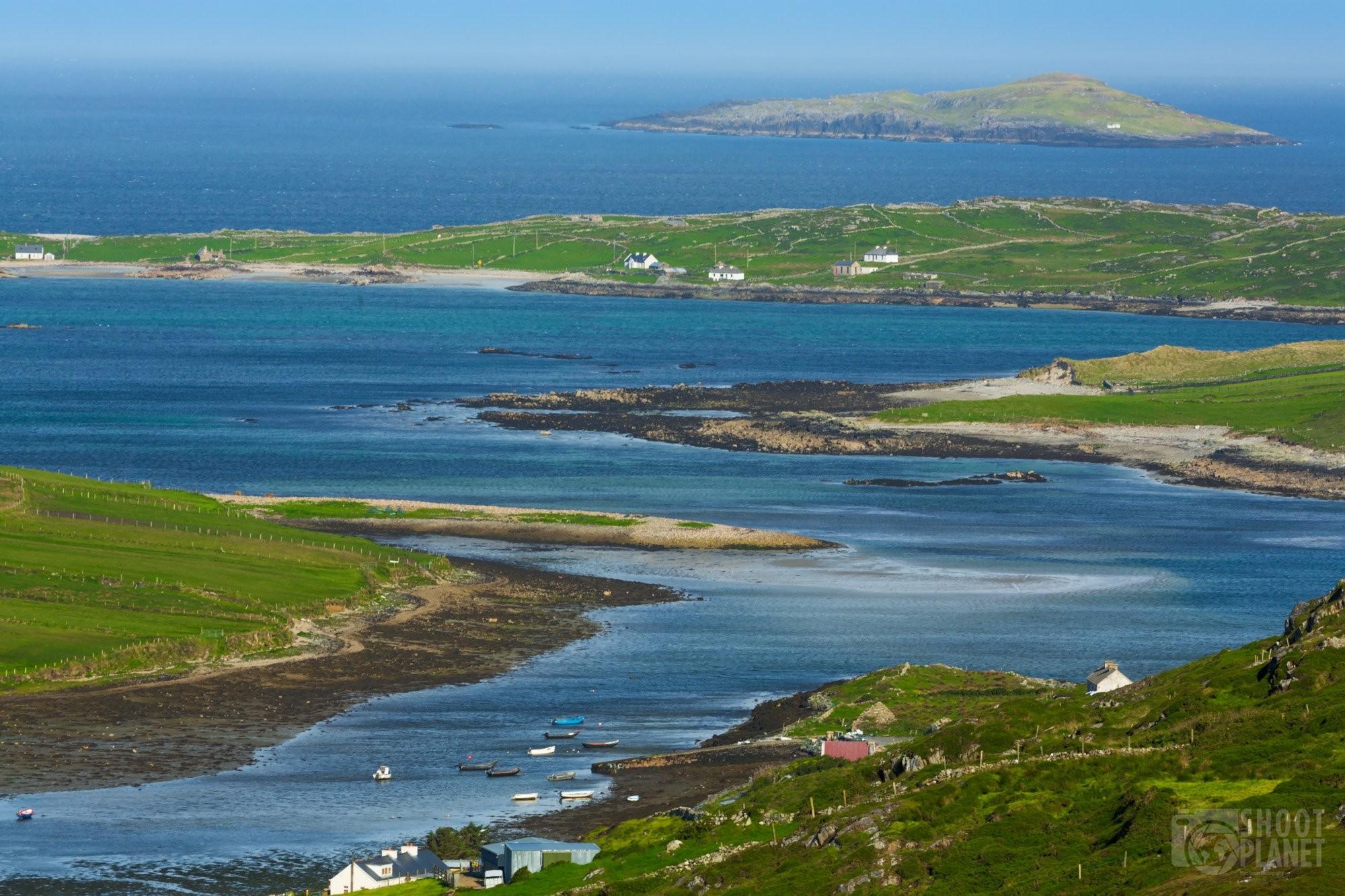Connemara Clifden Bay seascape, Ireland