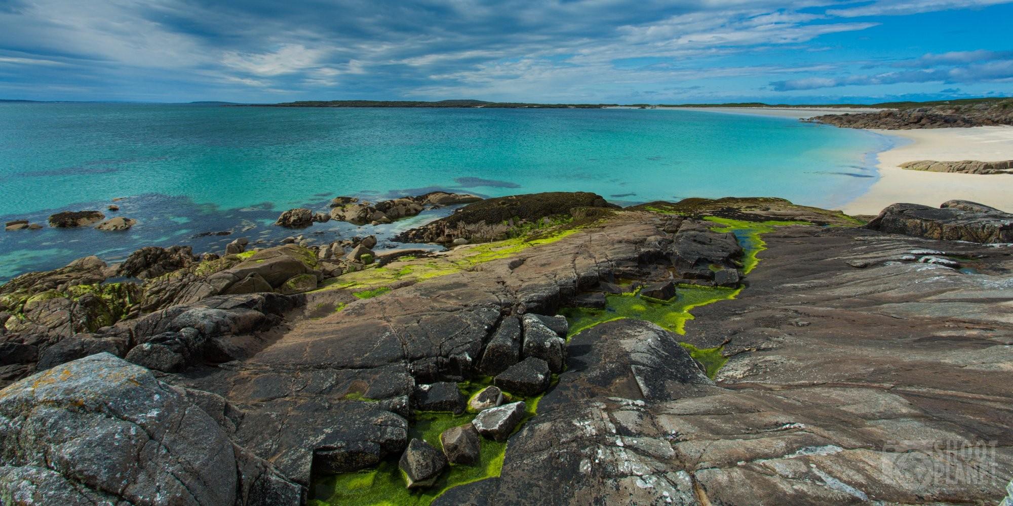 Gurteen Beach and Dog's Bay beach, Ireland