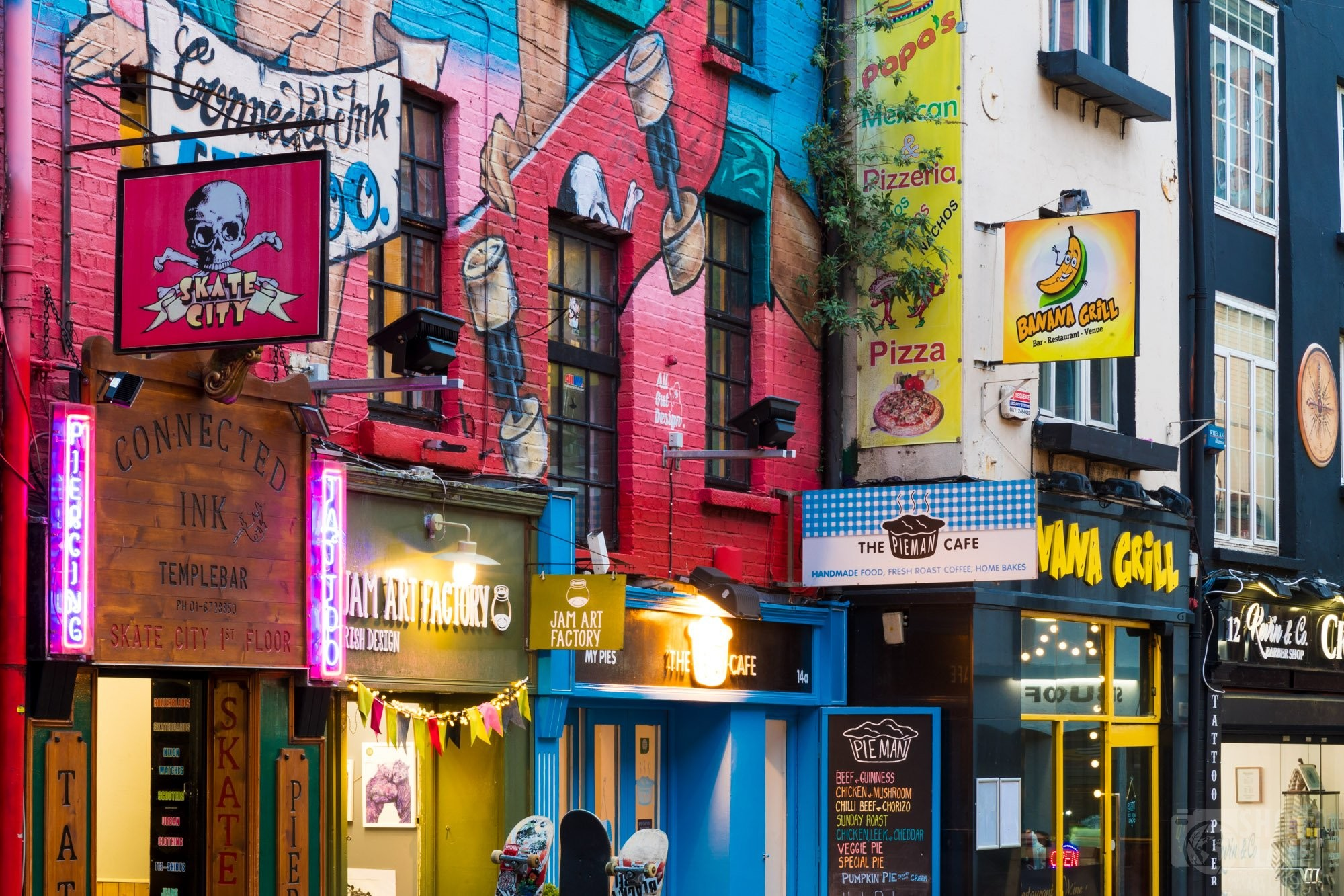 Crown Alley in Temple Bar, Dublin Ireland