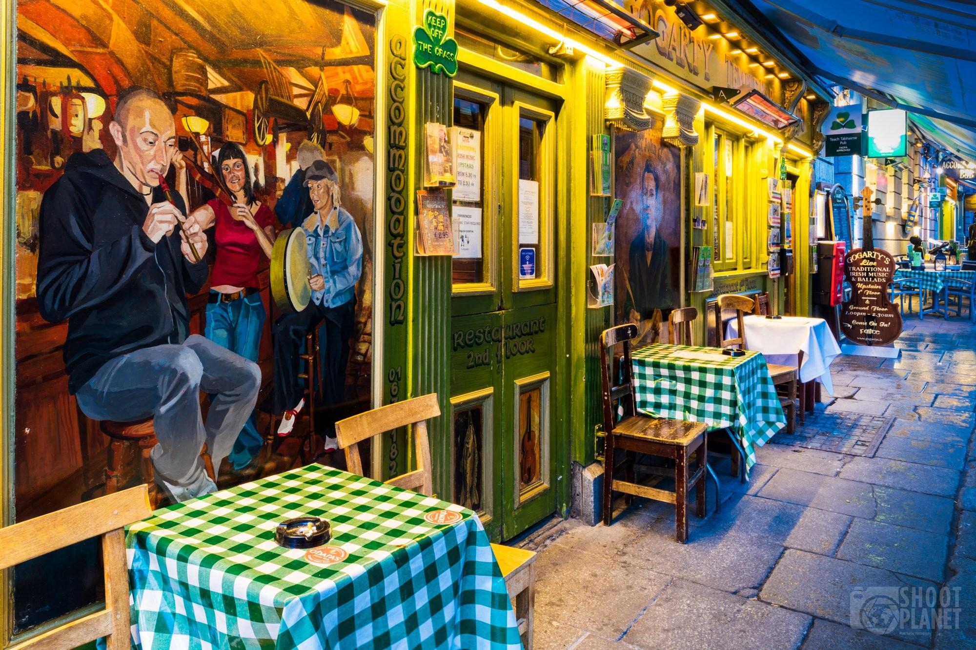Temple Bar terraces, Dublin Ireland