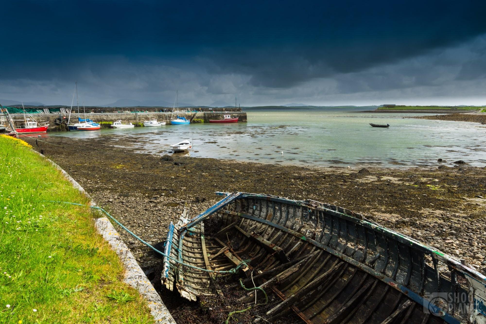 Old boat at Murrisk Pier, Ireland