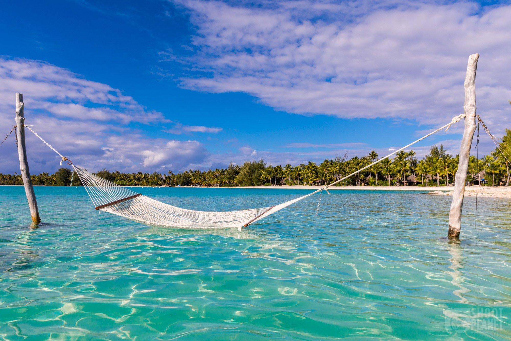 Hammock in Bora Bora lagoon