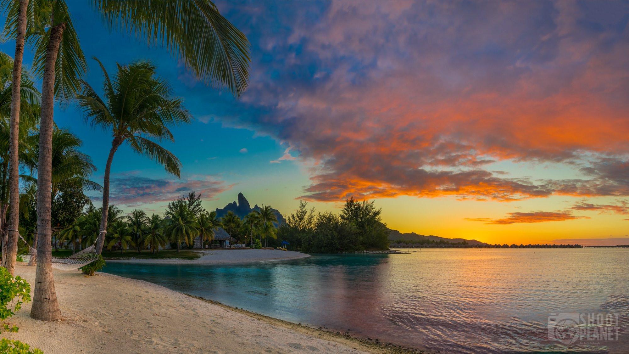 sunset in Bora Bora, Polynesia