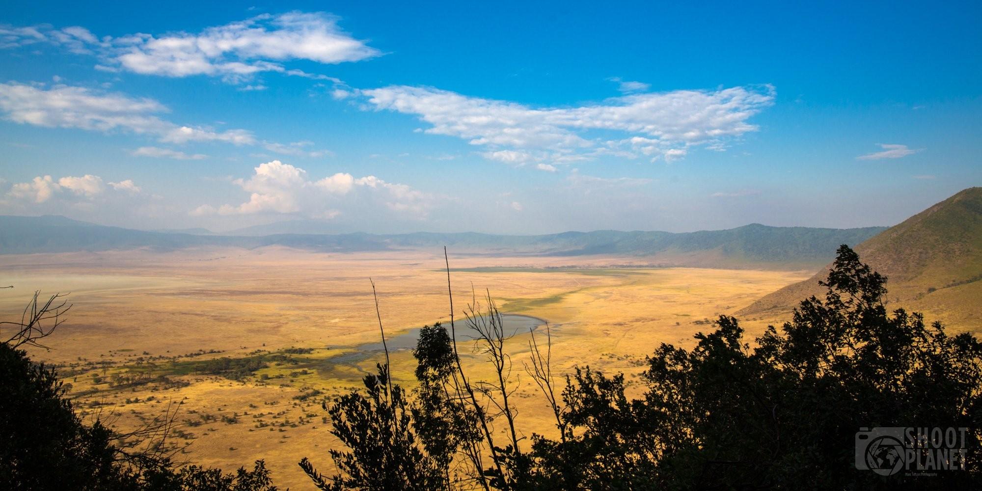Ngorongoro Crater and lake, Tanzania Africa