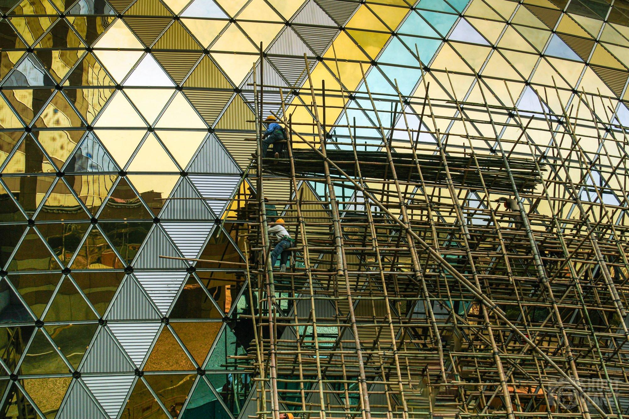 Grand Lisboa construction scaffolding, Macao China