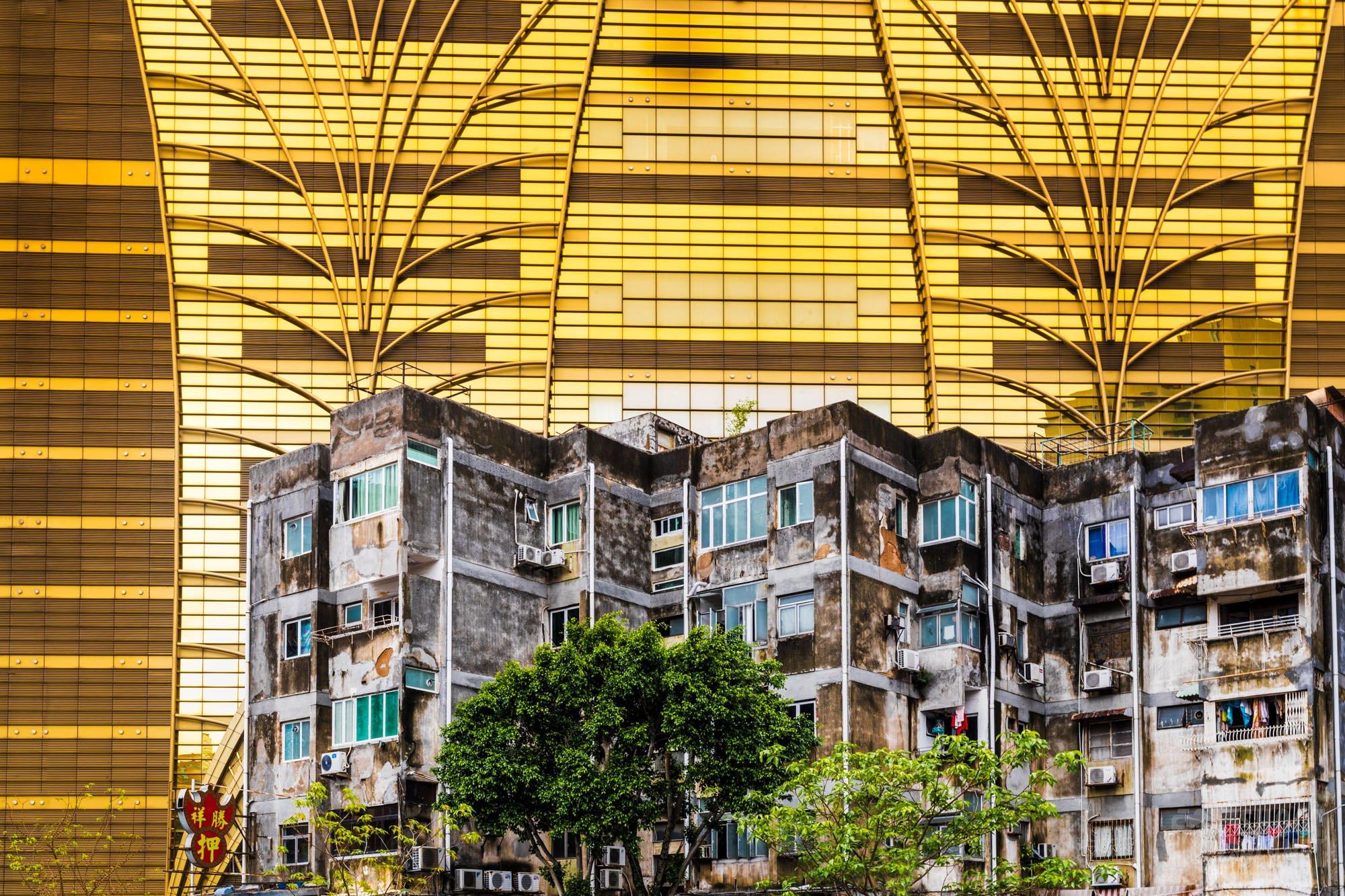 Old buildings and Lisboa Casino, Macao China