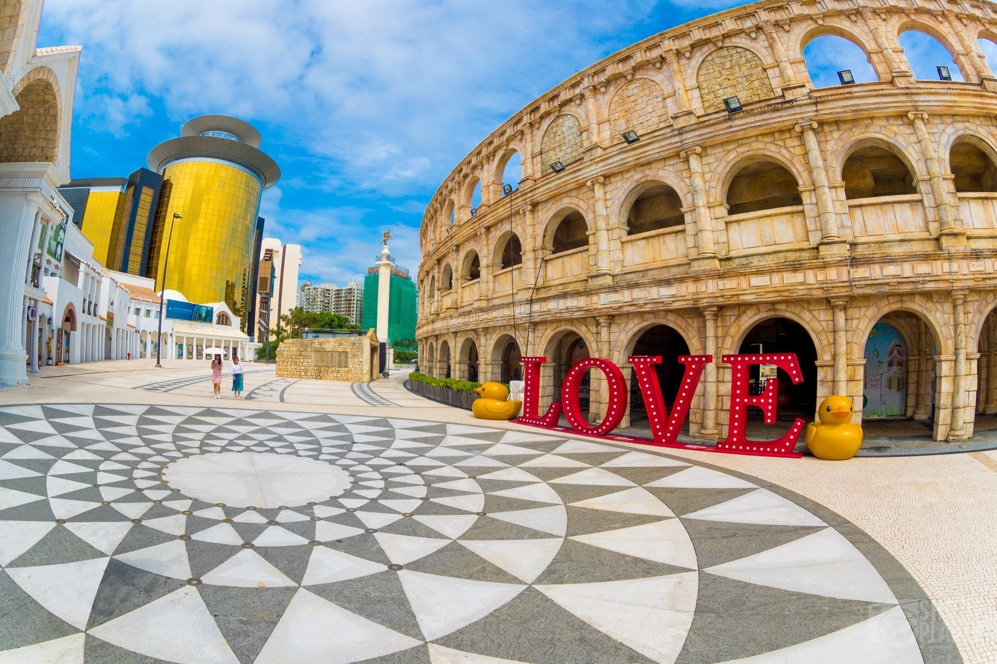 Roman amphitheater coliseum of Macao in China