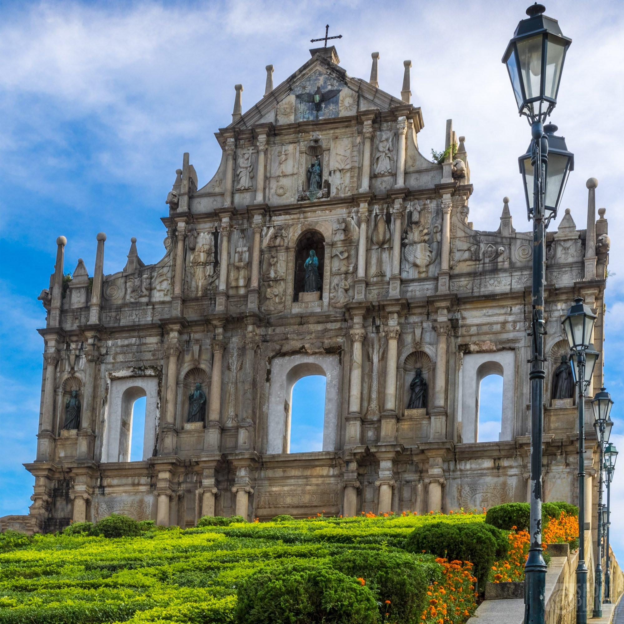 Portuguese Saint Paul cathedral ruins, Macao China