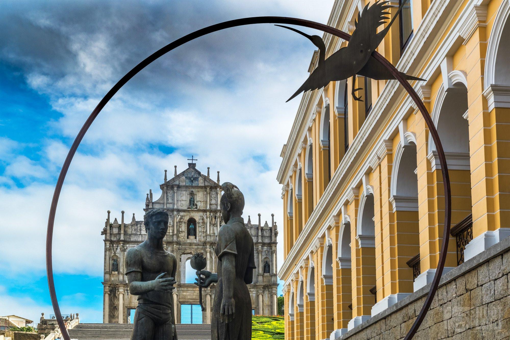 Friendship Statue and Saint Paul ruins, Macao