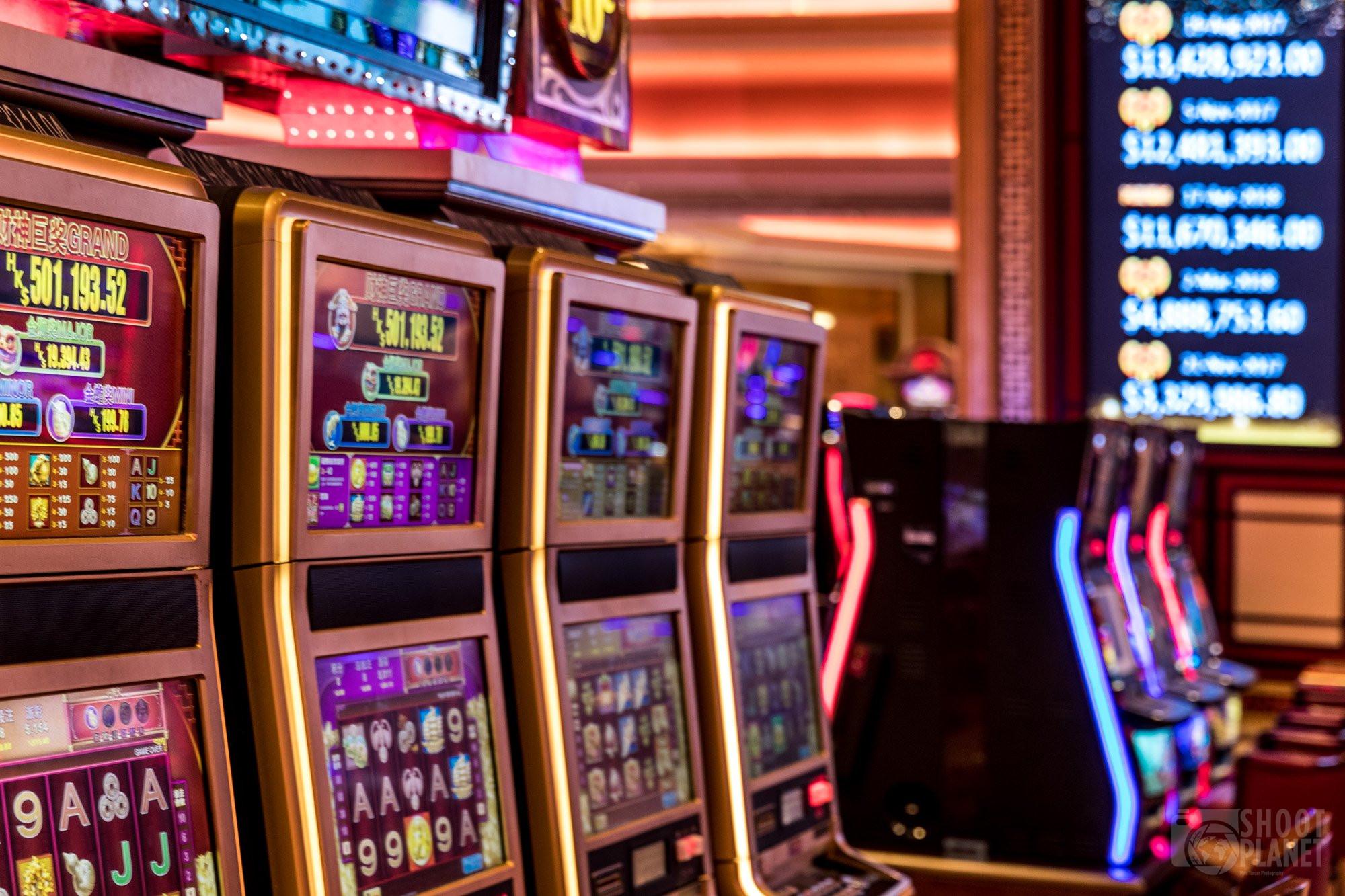 Casino machines in Macao China