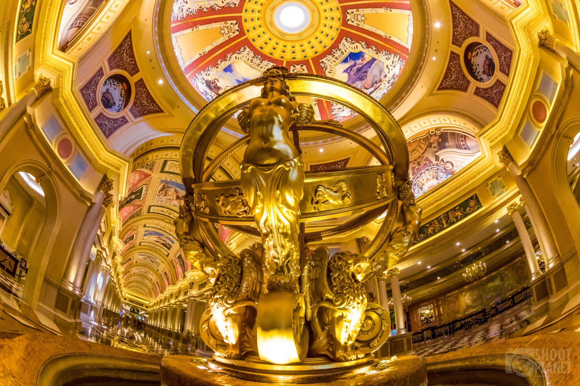 Venetian casino interior in Macao, China