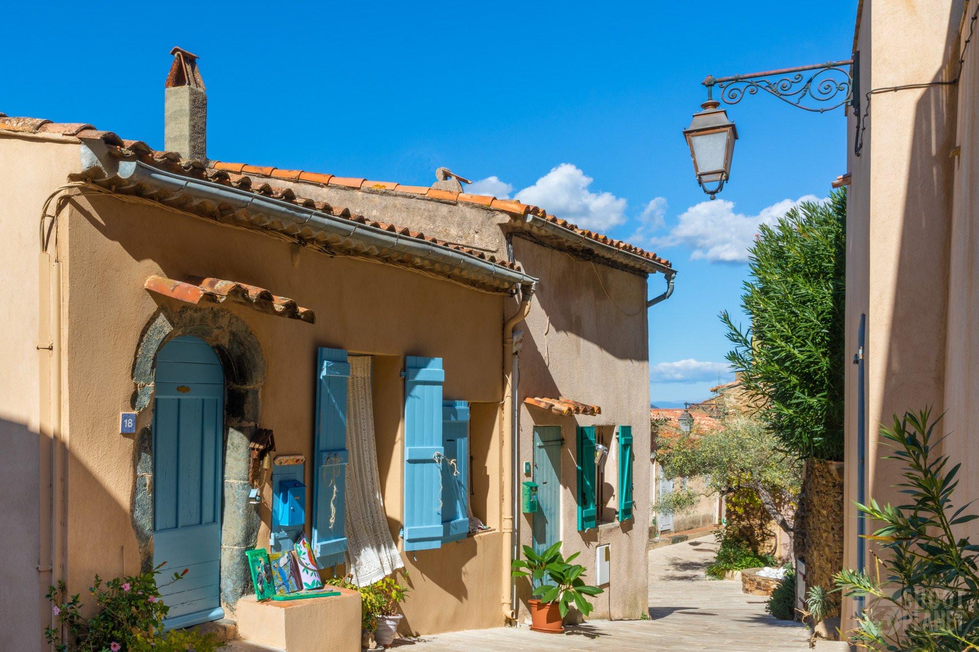 Gassin ancient village street, Azure Coast France