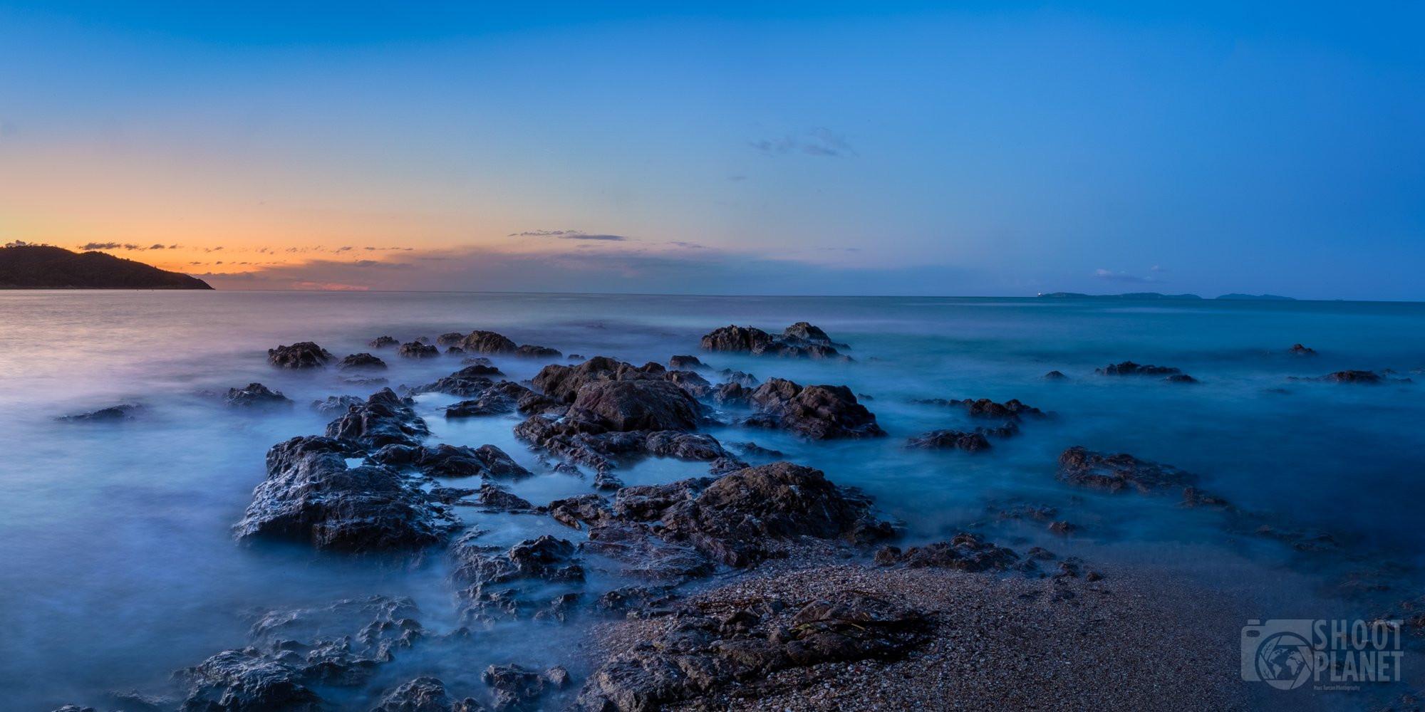 Gigaro beach Sunrise, gulf of Saint-Tropez, France