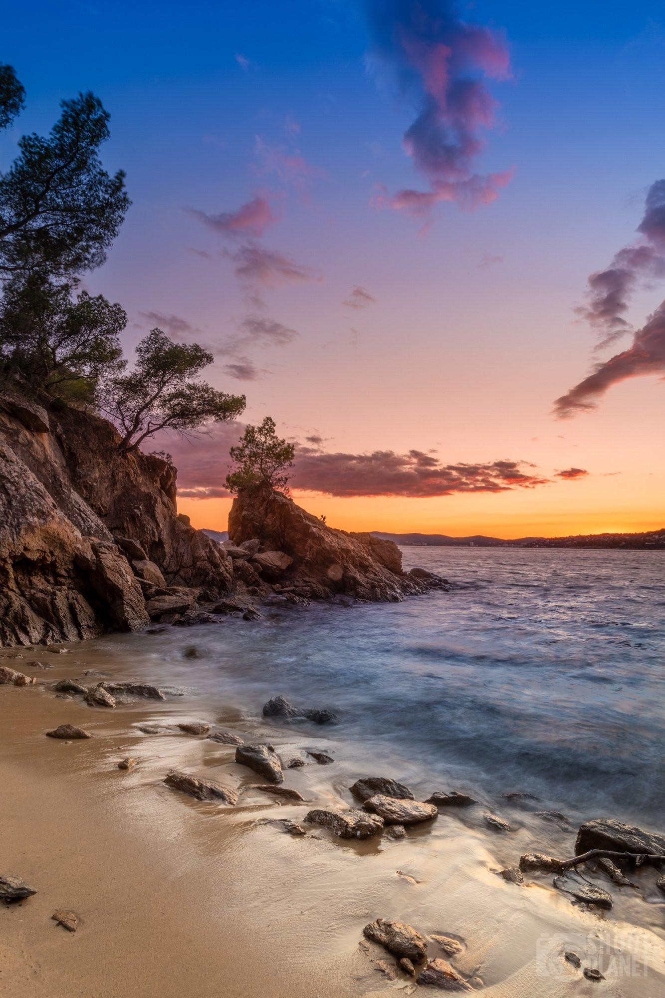 Pointe Layet beach Sunset, Azure Coast France