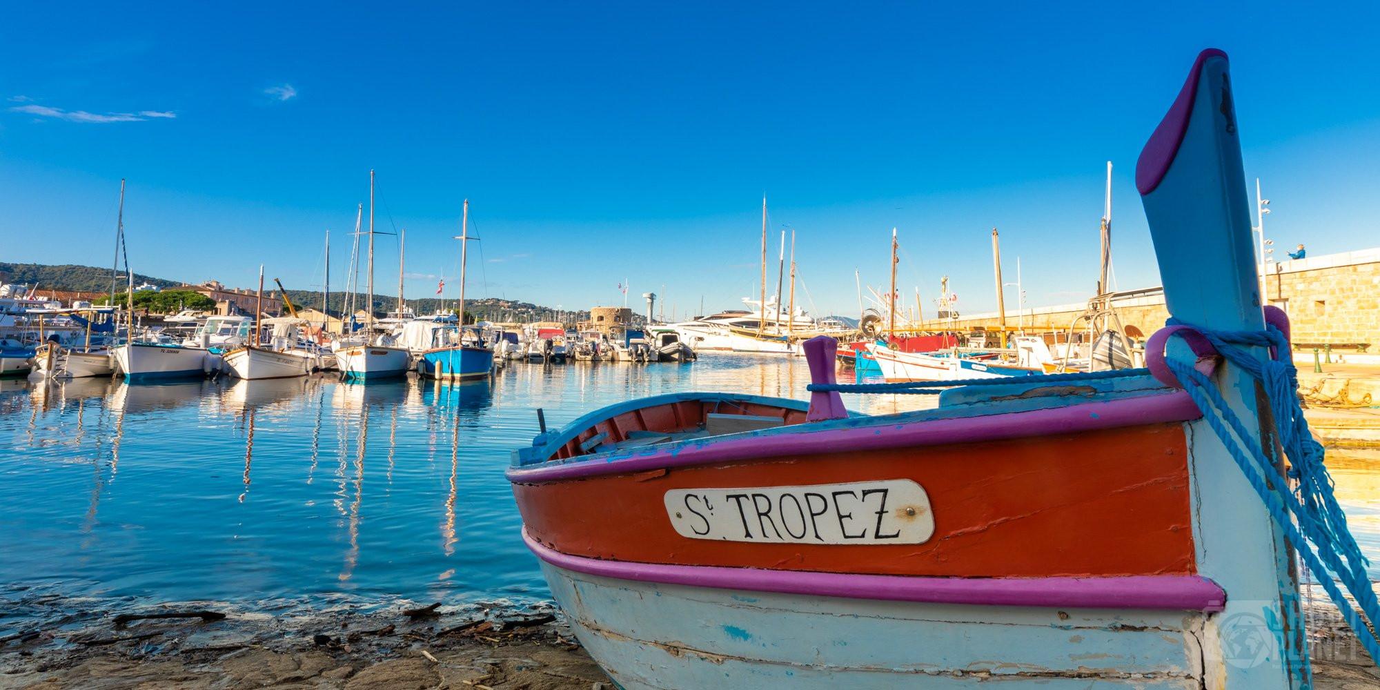 Fishing boat in Saint-Tropez harbor, France
