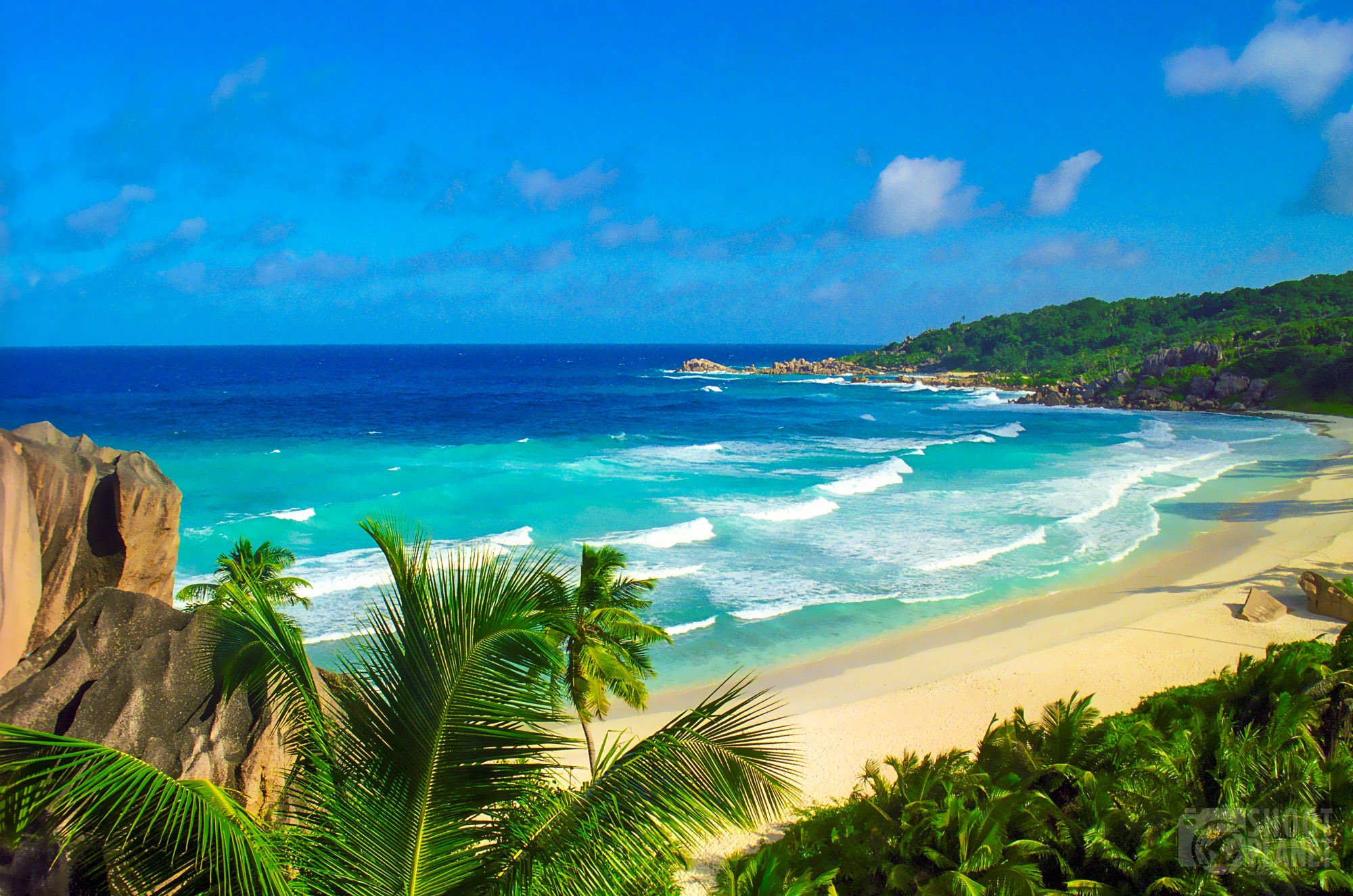 Grand Anse Beach, La Digue Island Seychelles